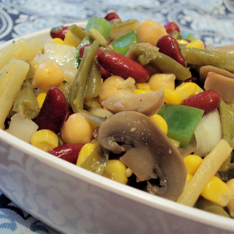 Three Bean Salad with Corn