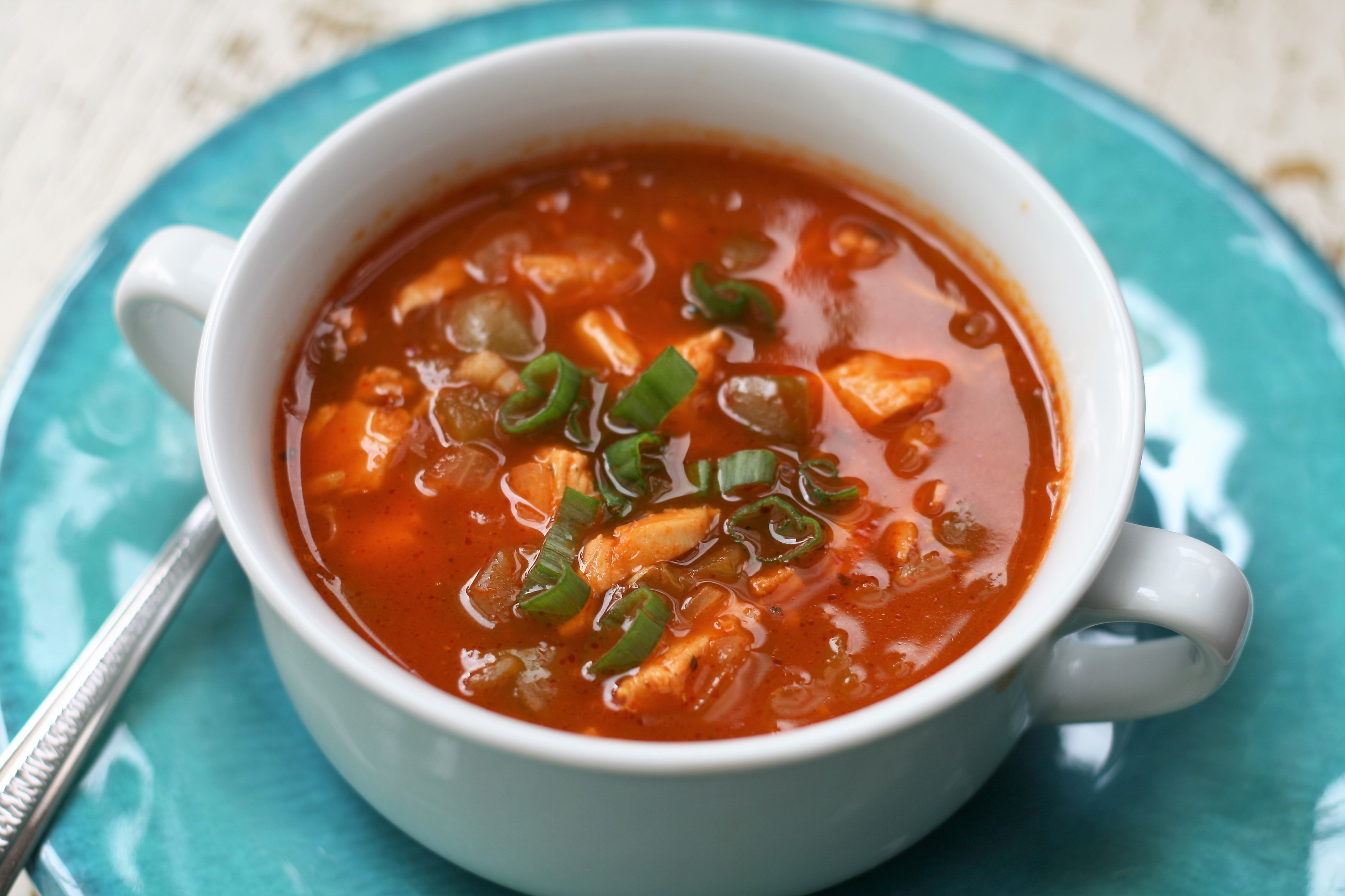Spicy Smoked Turkey Soup