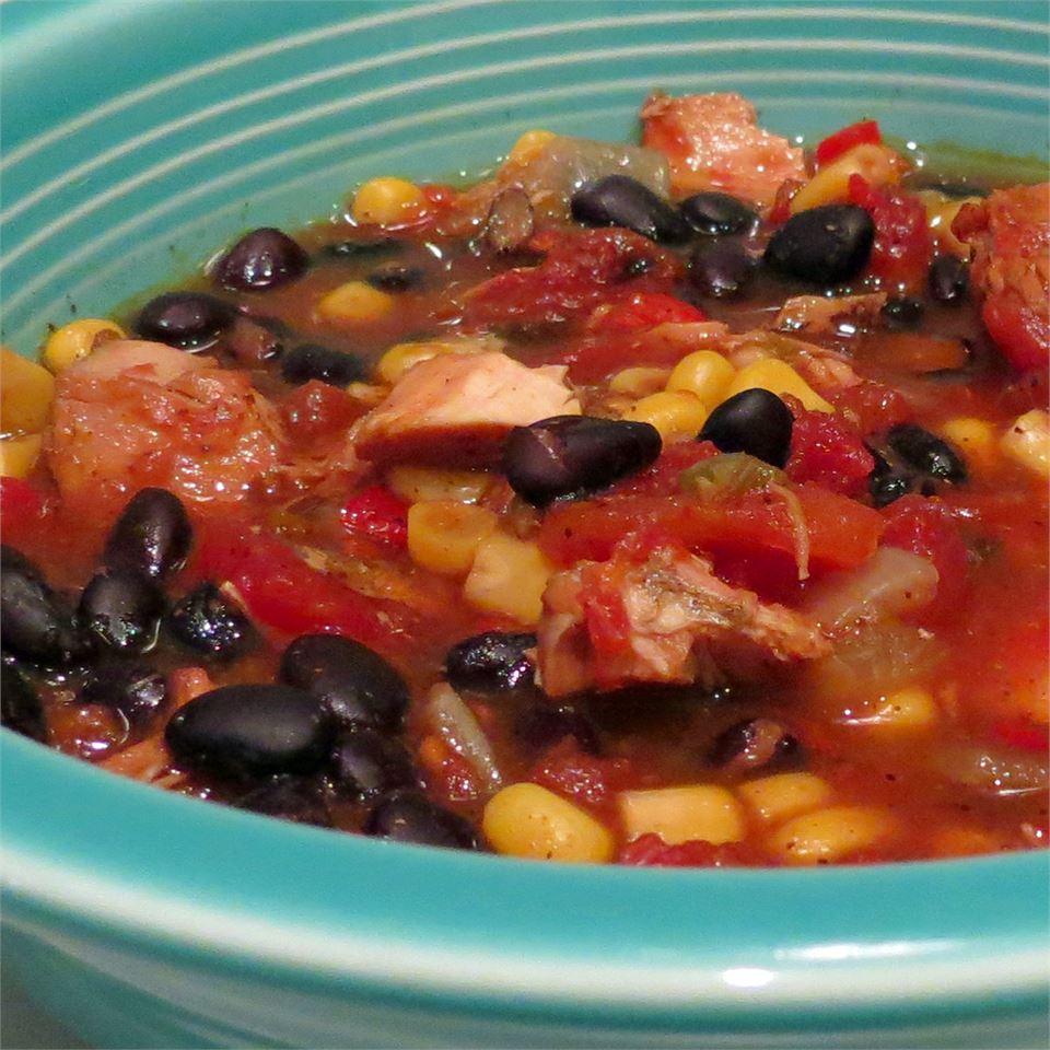 Southwest Black Bean Chicken Soup