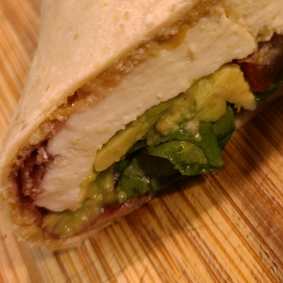 Hummus and Prosciutto Wrap Chelsea Lauzun