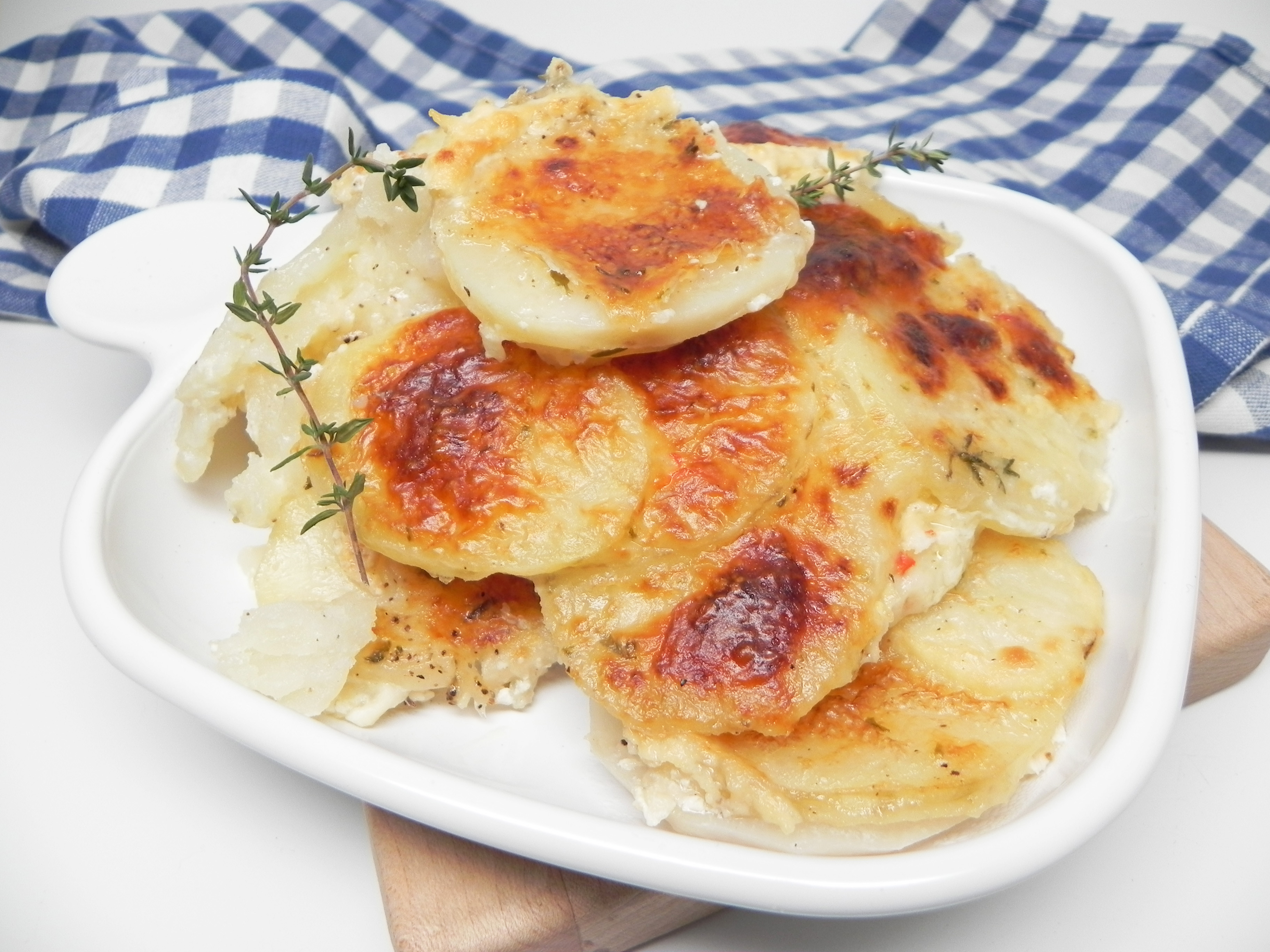 Cheesy Turnip and Potato Gratin