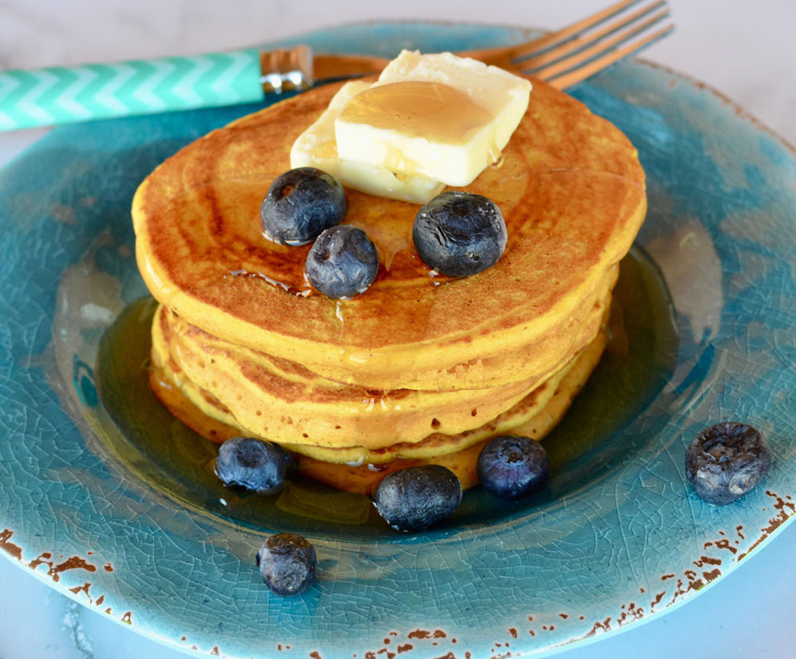 Quick and Easy Pumpkin Pancakes Lela