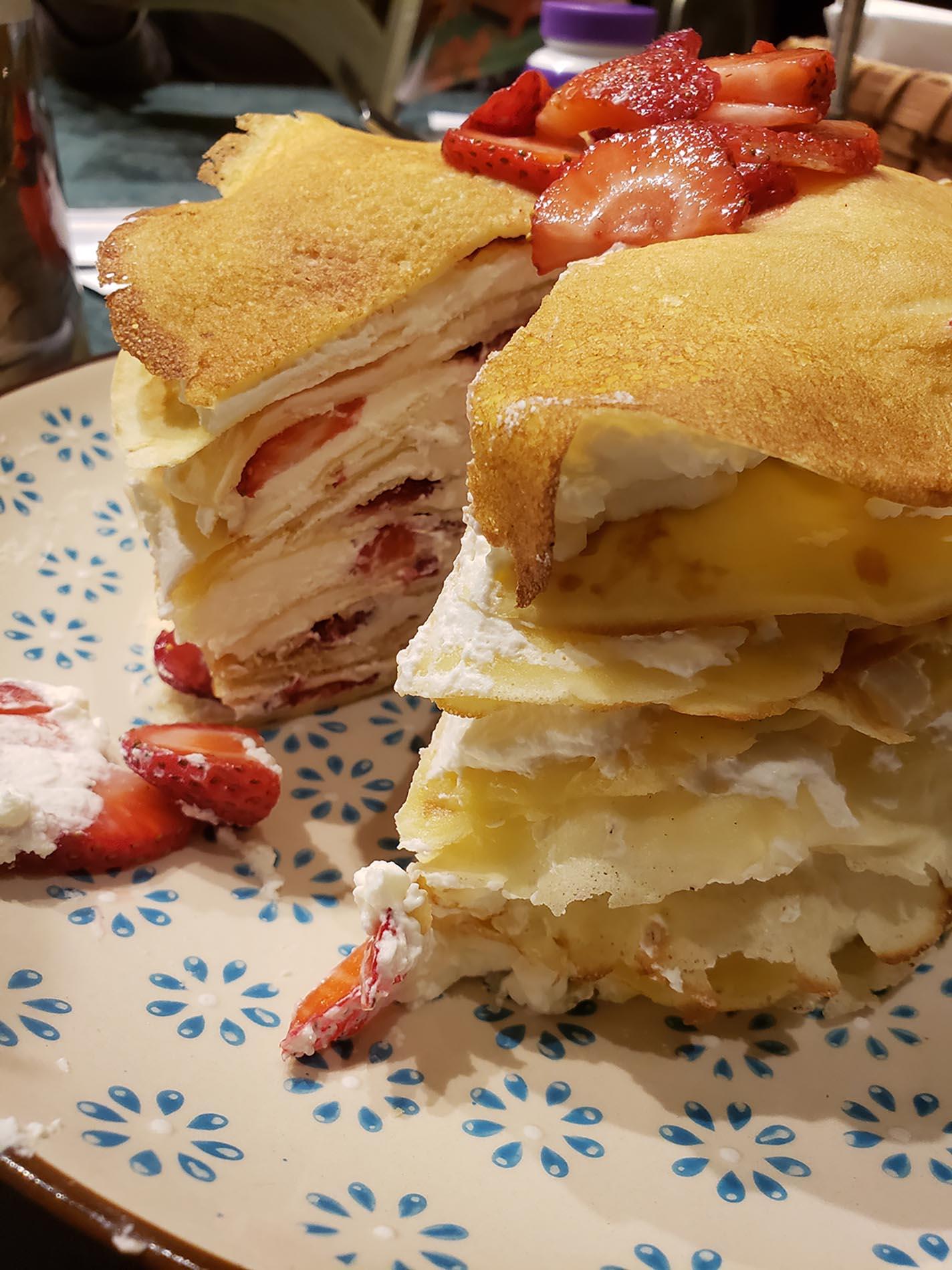 Chef John's Strawberry Crepe Cake
