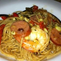 Linguine with Cajun-Spiced Shrimp and Corn Christina Hoppes
