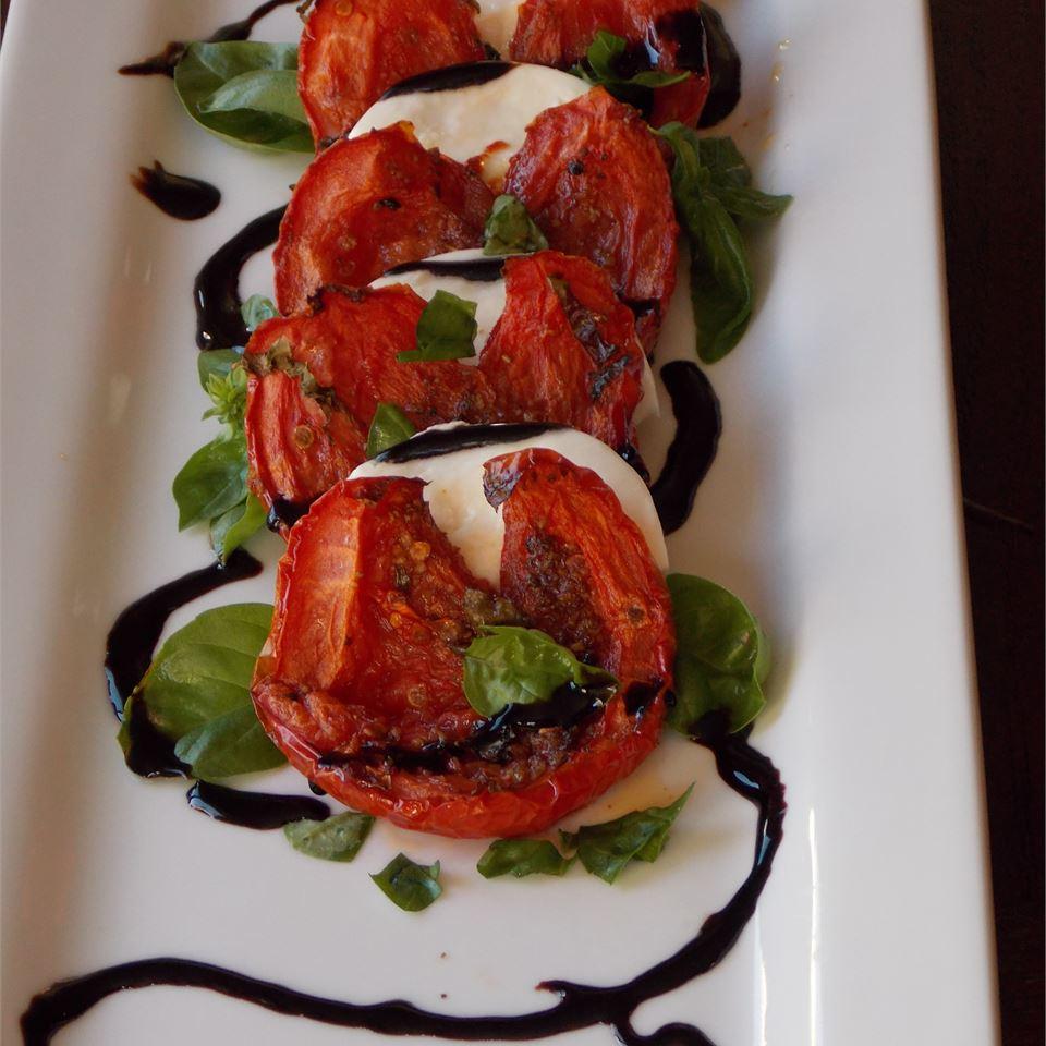 Roasted Tomato Caprese Salad