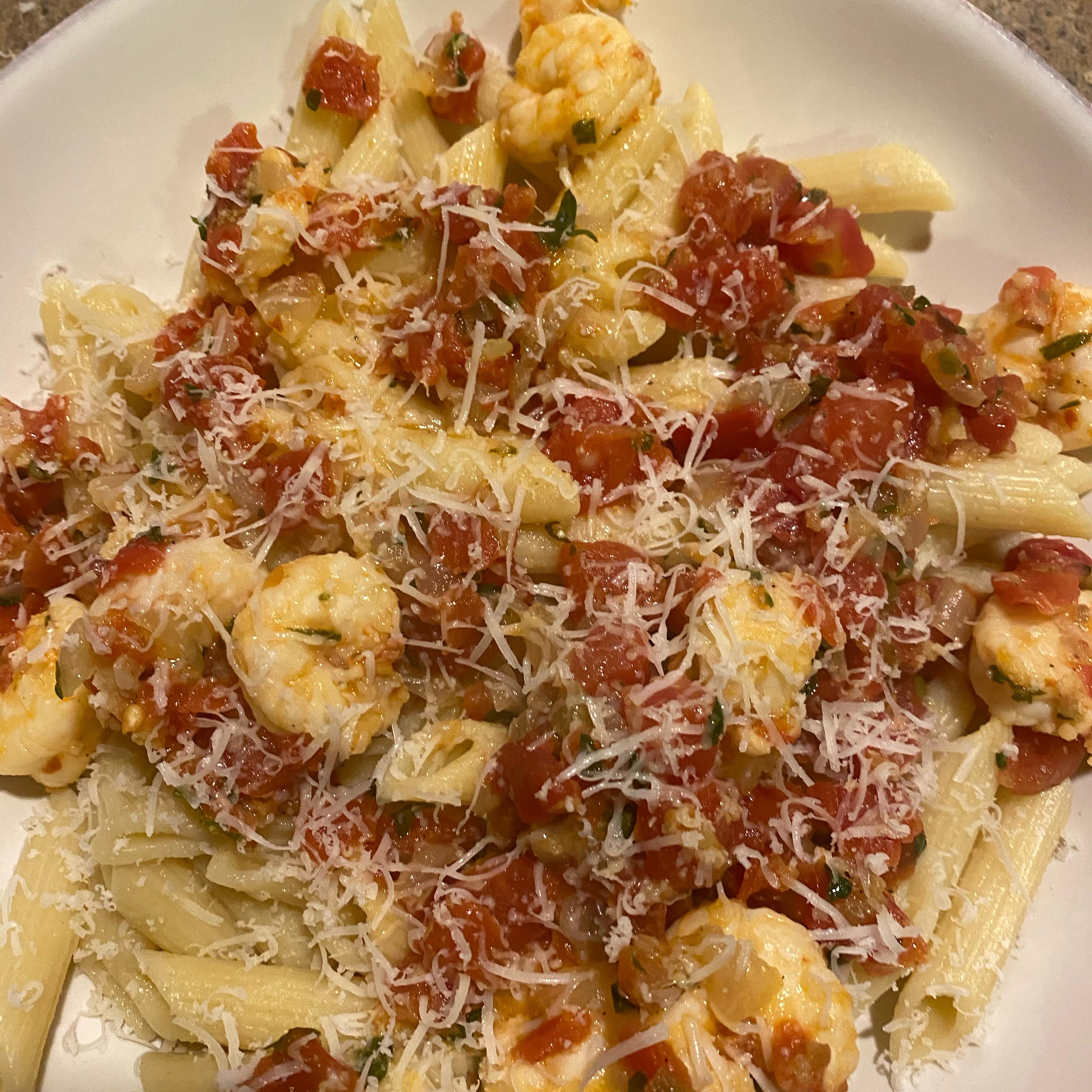 Spicy Shrimp and Tomato Scampi