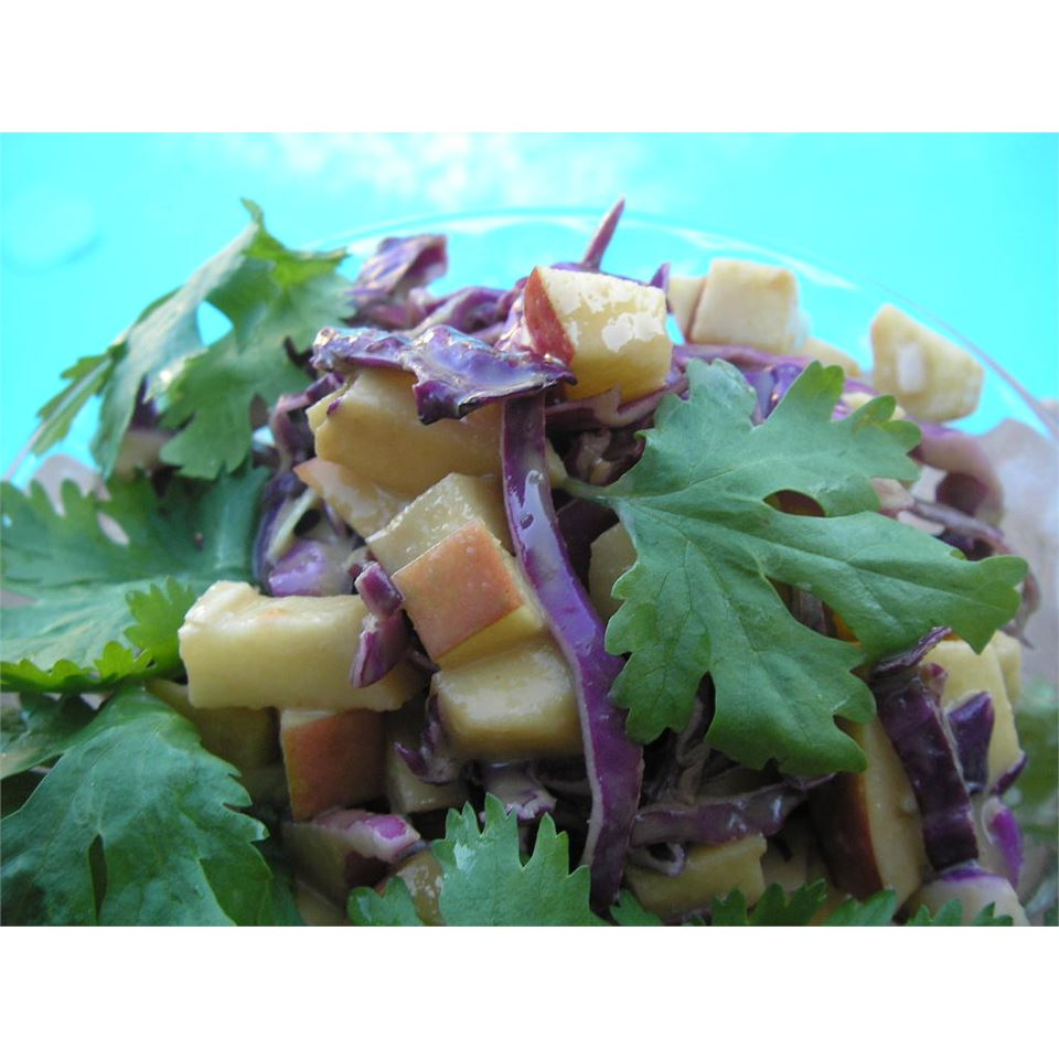 Purple Apple Slaw with Peanut Butter Dressing mauigirl