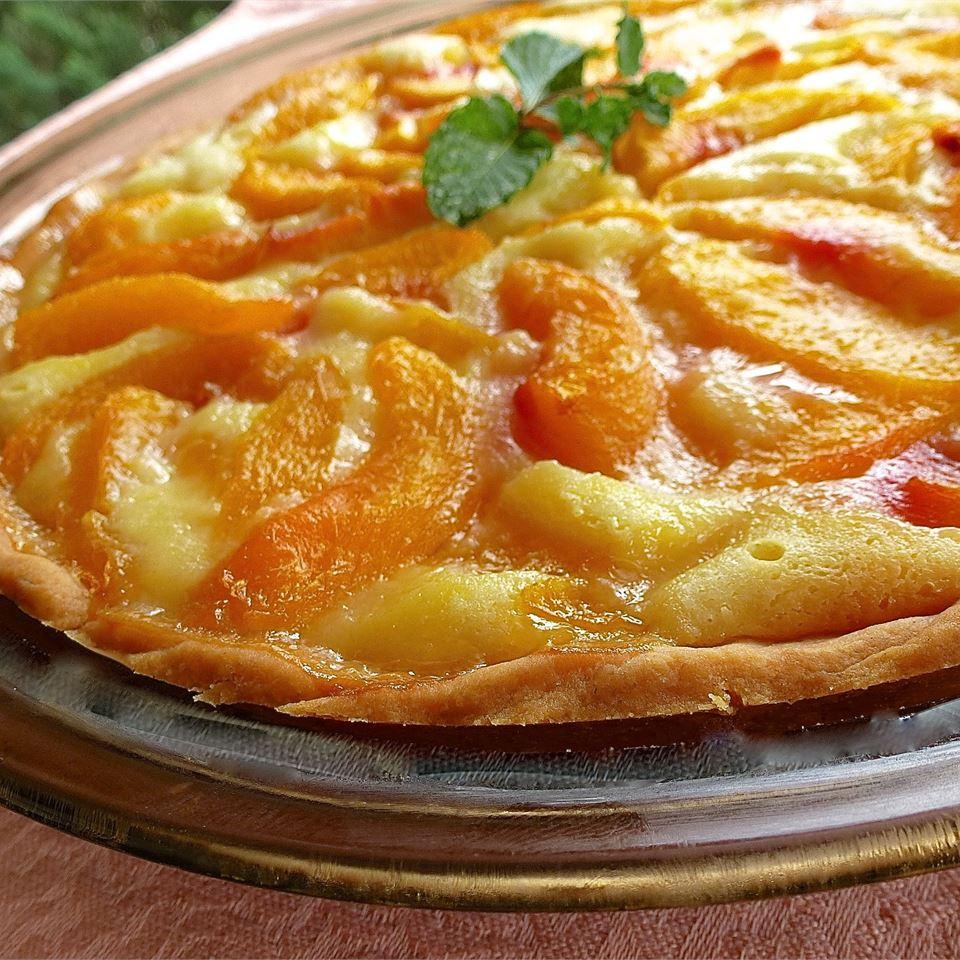 Peach Pie with Sour Cream lutzflcat