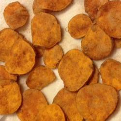Fried Cinnamon Sweet Potato Chips