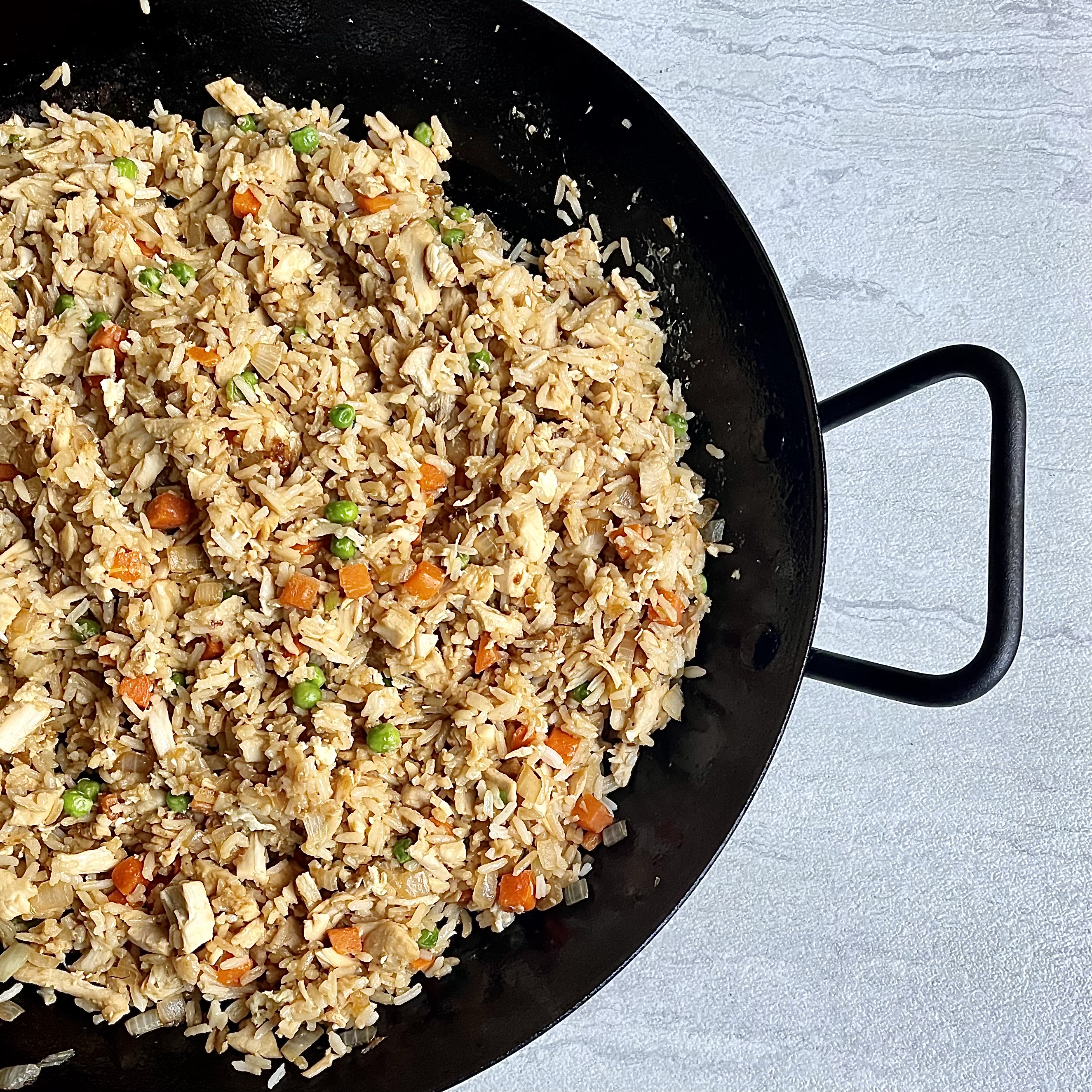 Leftover Turkey Fried Rice