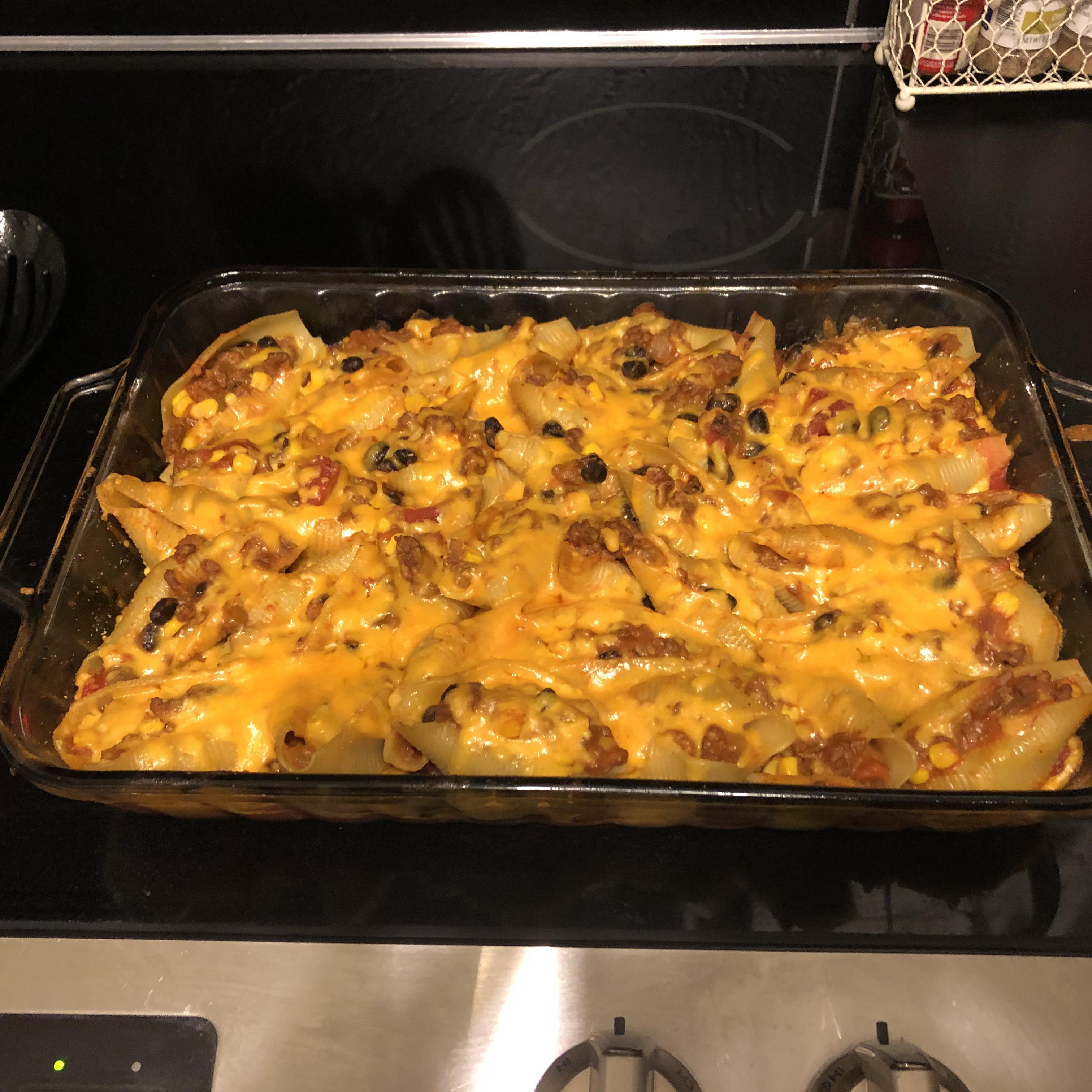 Mexican Stuffed Shells with Ground Beef
