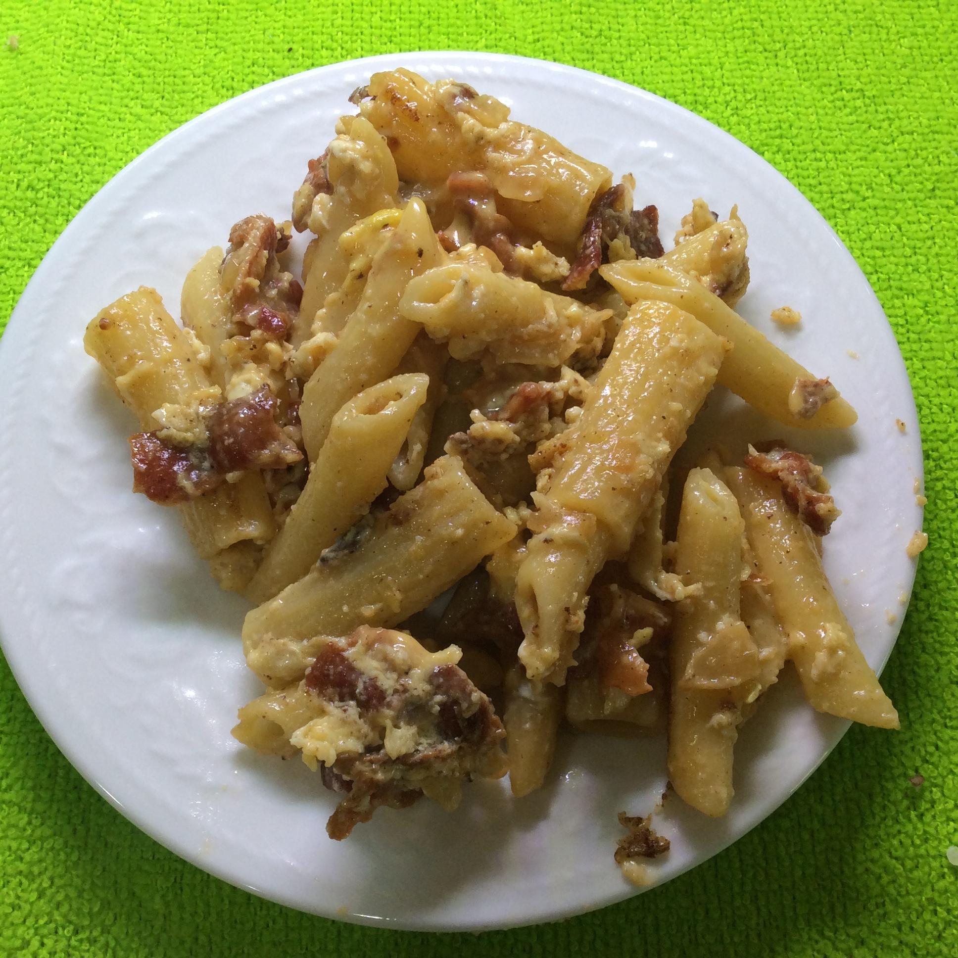 Bacon & Eggs Spaghetti HALFFINGR