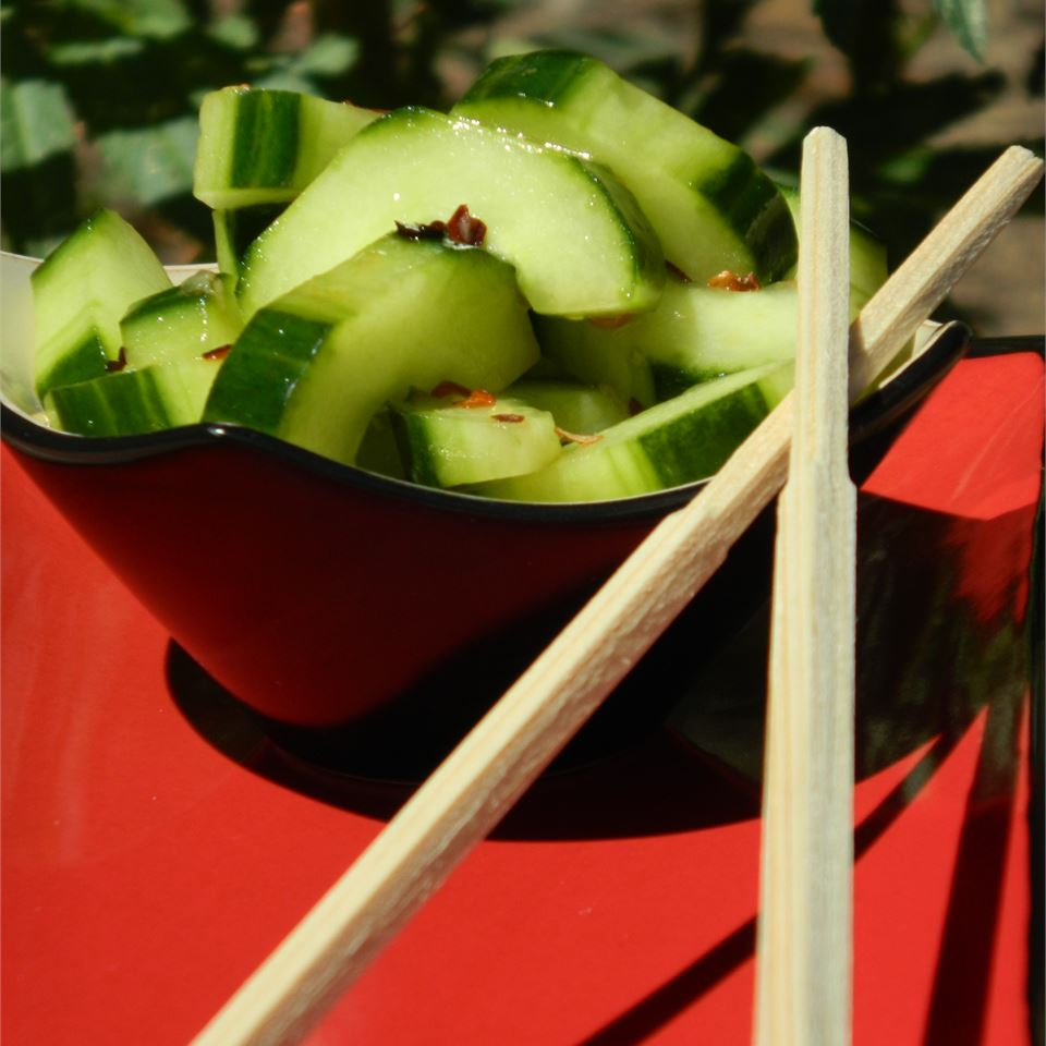 Spicy Asian Cucumbers Stirring up Trouble