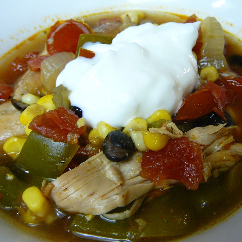 Southwest Black Bean Chicken Soup Molly