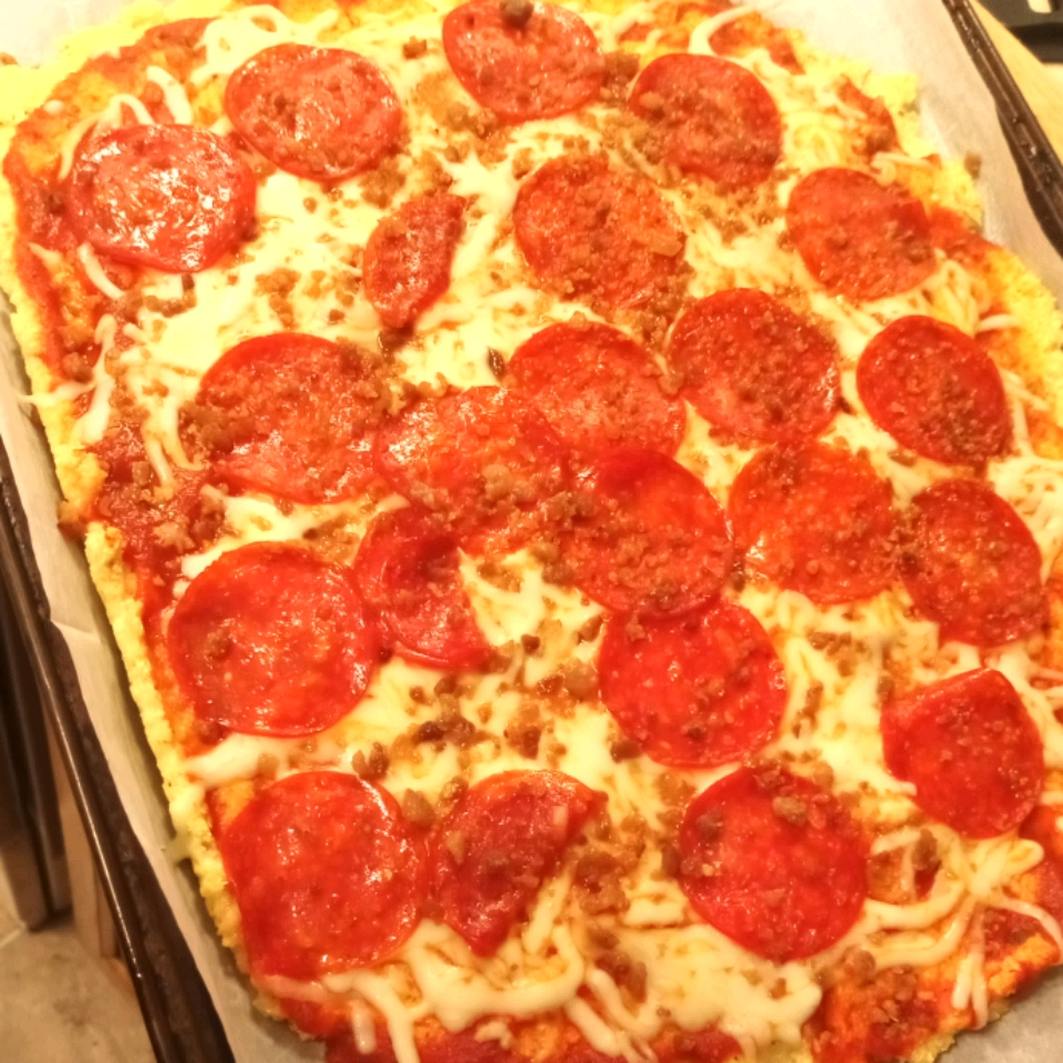 Cauliflower Almond Pizza Crust
