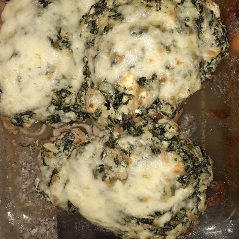 Keto Spinach-Artichoke Chicken