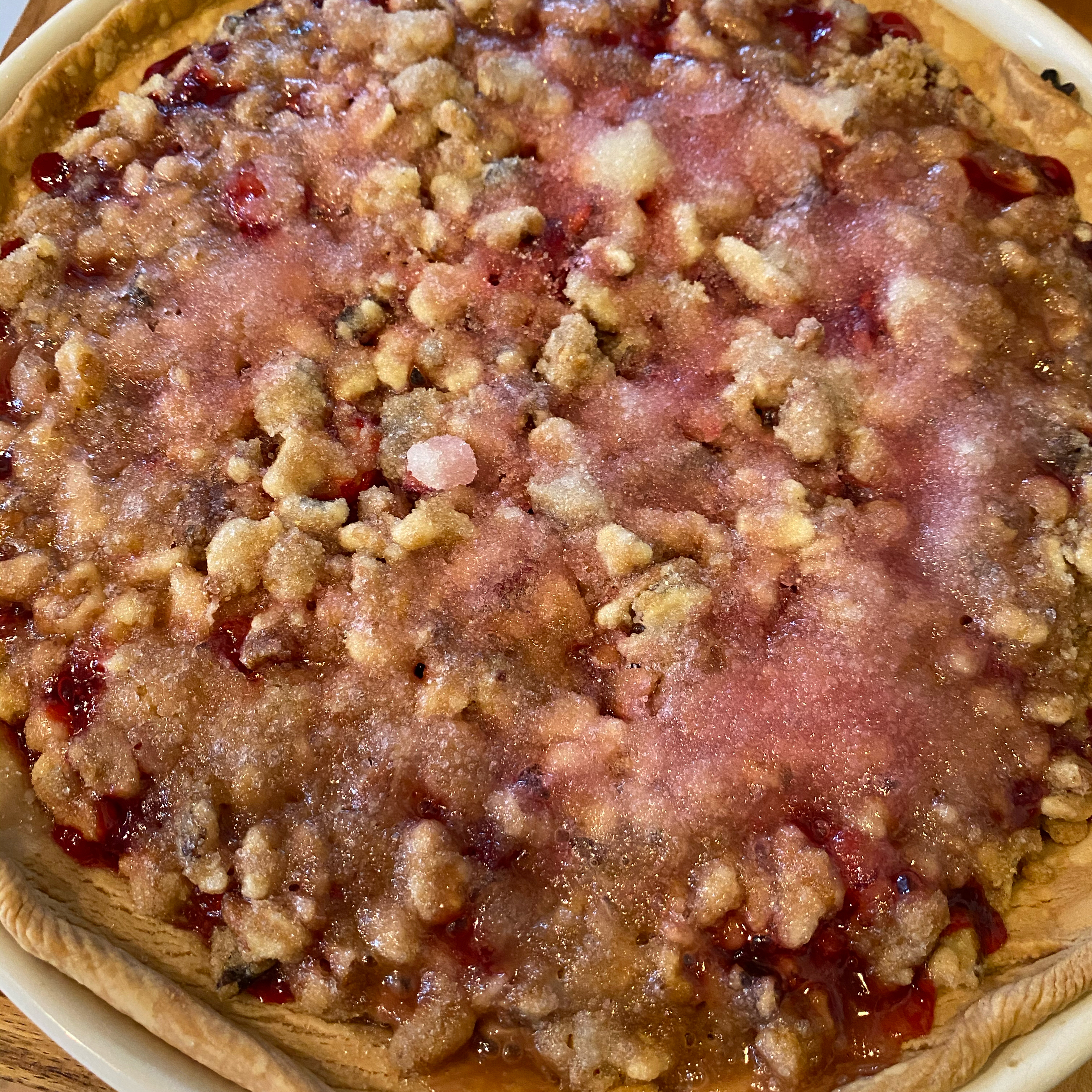 Cranberry Streusel Pie Theresa Thomas