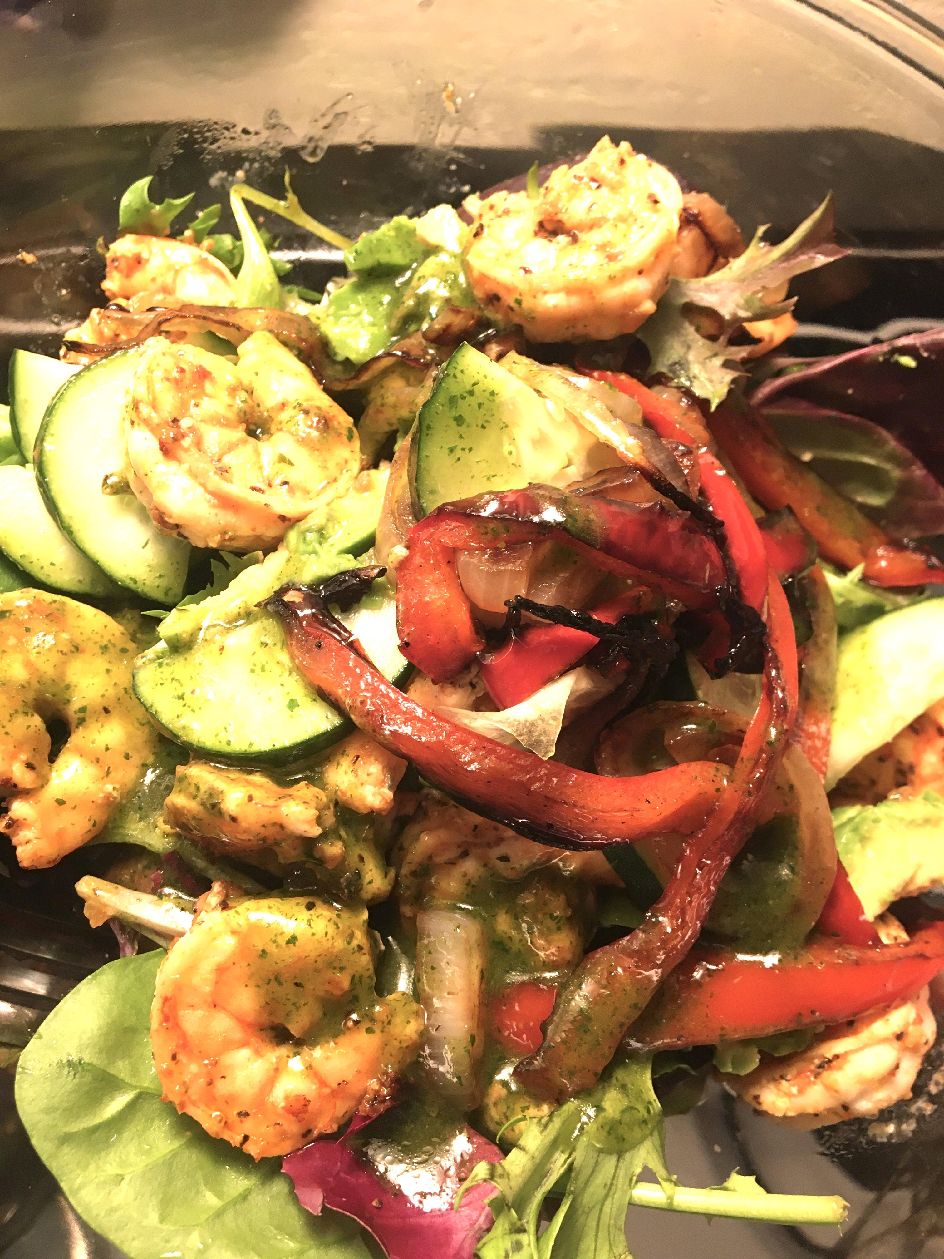 Summer Grilled Shrimp Salad Brad Phelps