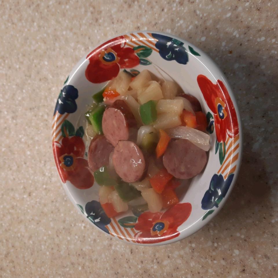 Hawaiian Sausage Skillet