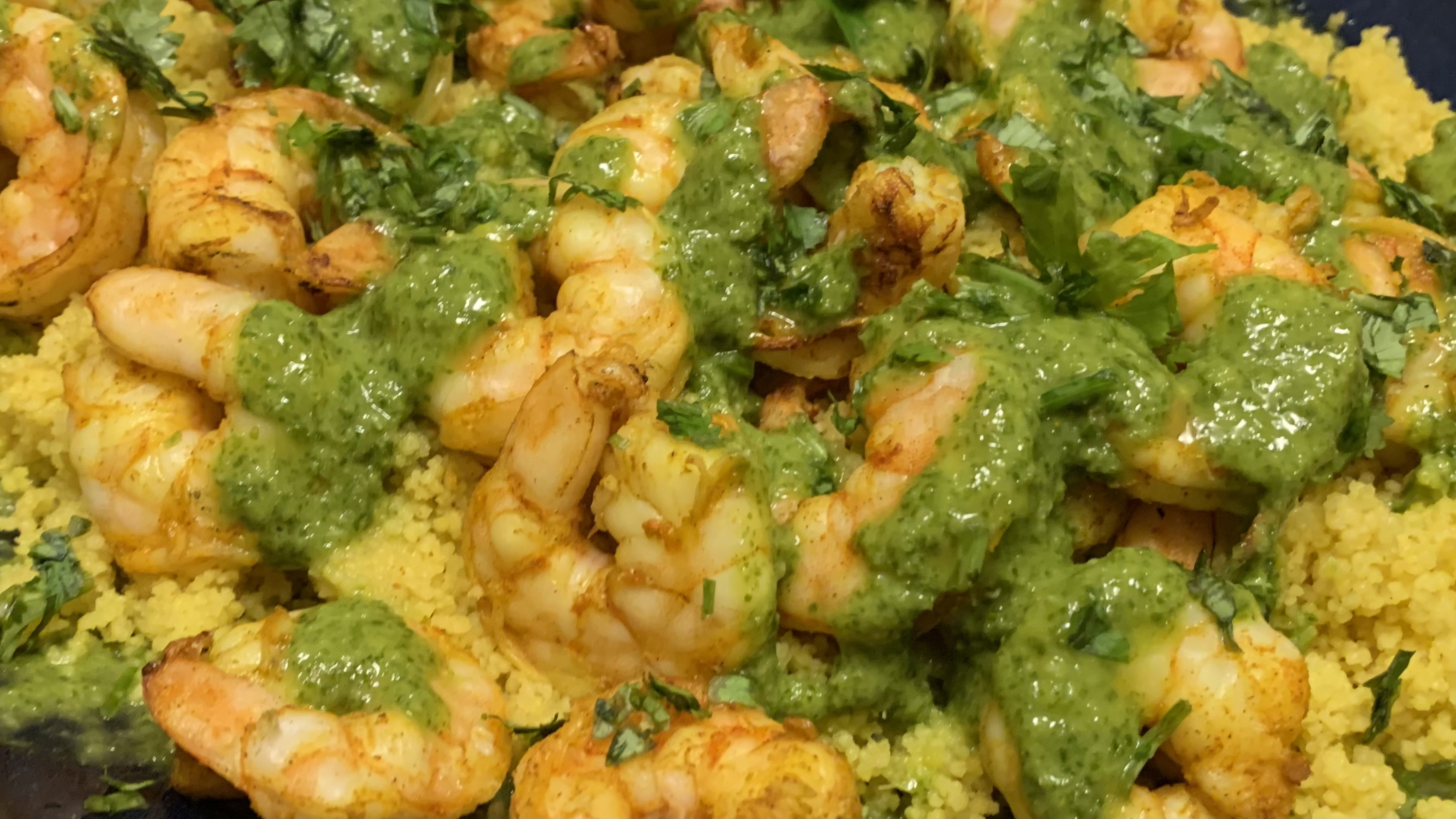 Spiced Couscous with Shrimp and Chermoula Tonya Vandenheuvel