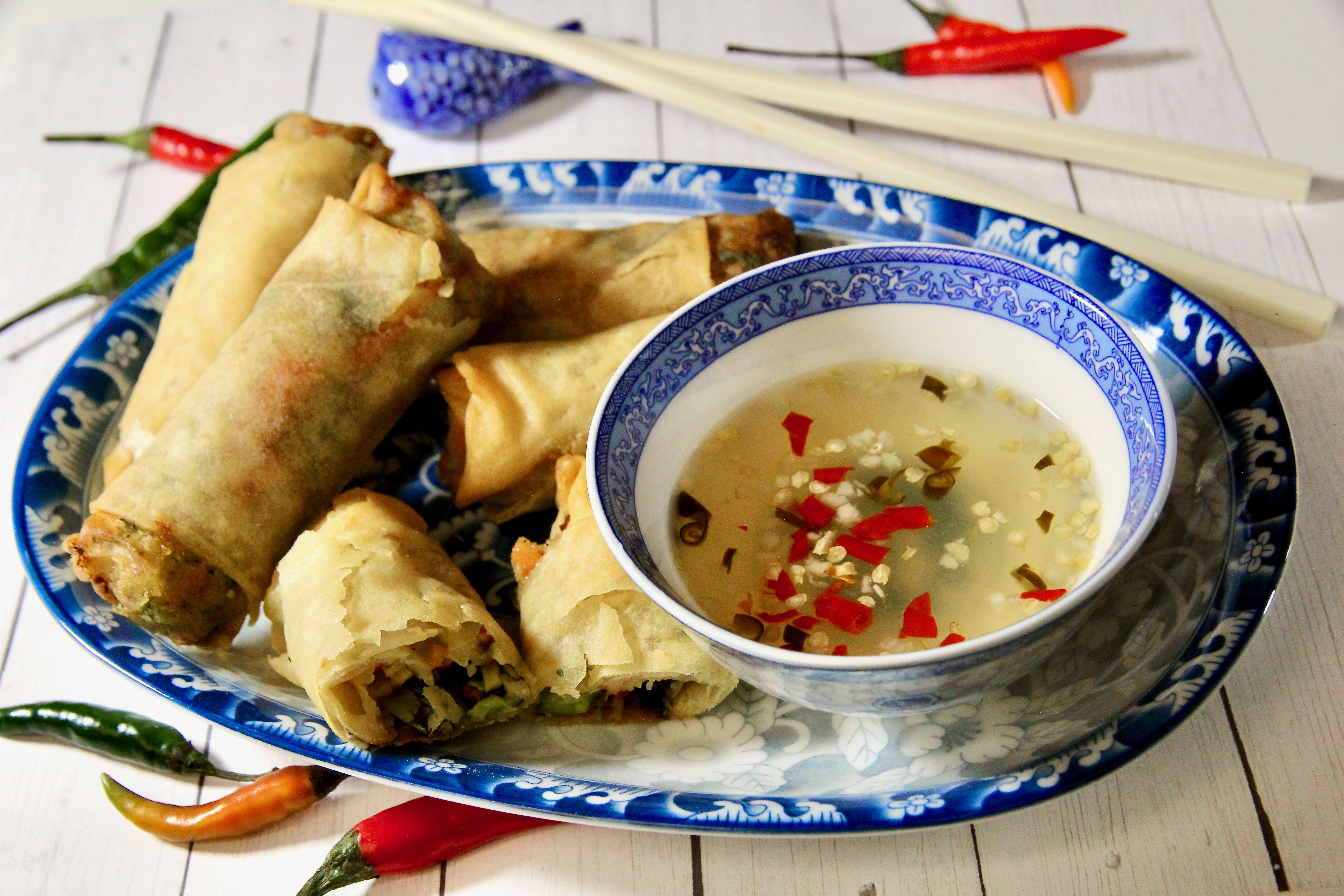 Thai Dipping Sauce for Spring Rolls (Nam Jim Po Piah)