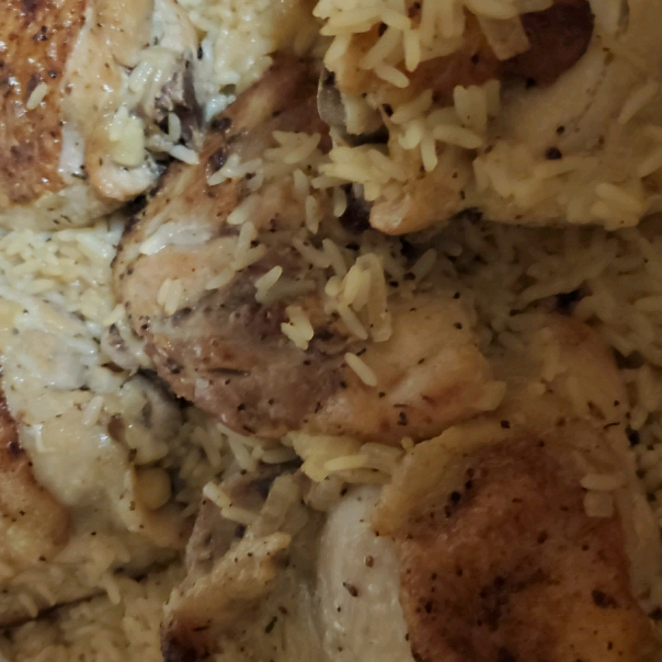 Baked Lemon-Pepper Chicken Thighs and Rice spikerooni