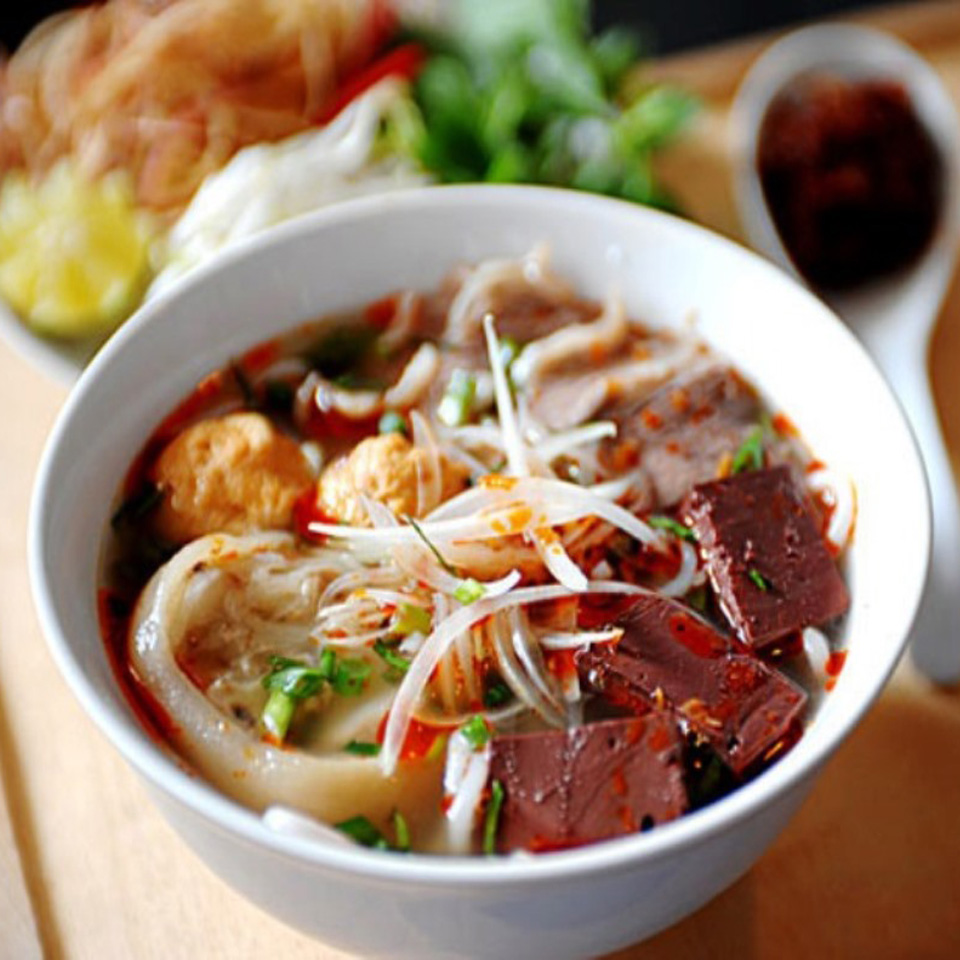 Spicy Vietnamese Beef Noodle Soup Phong Nha Locals Travel