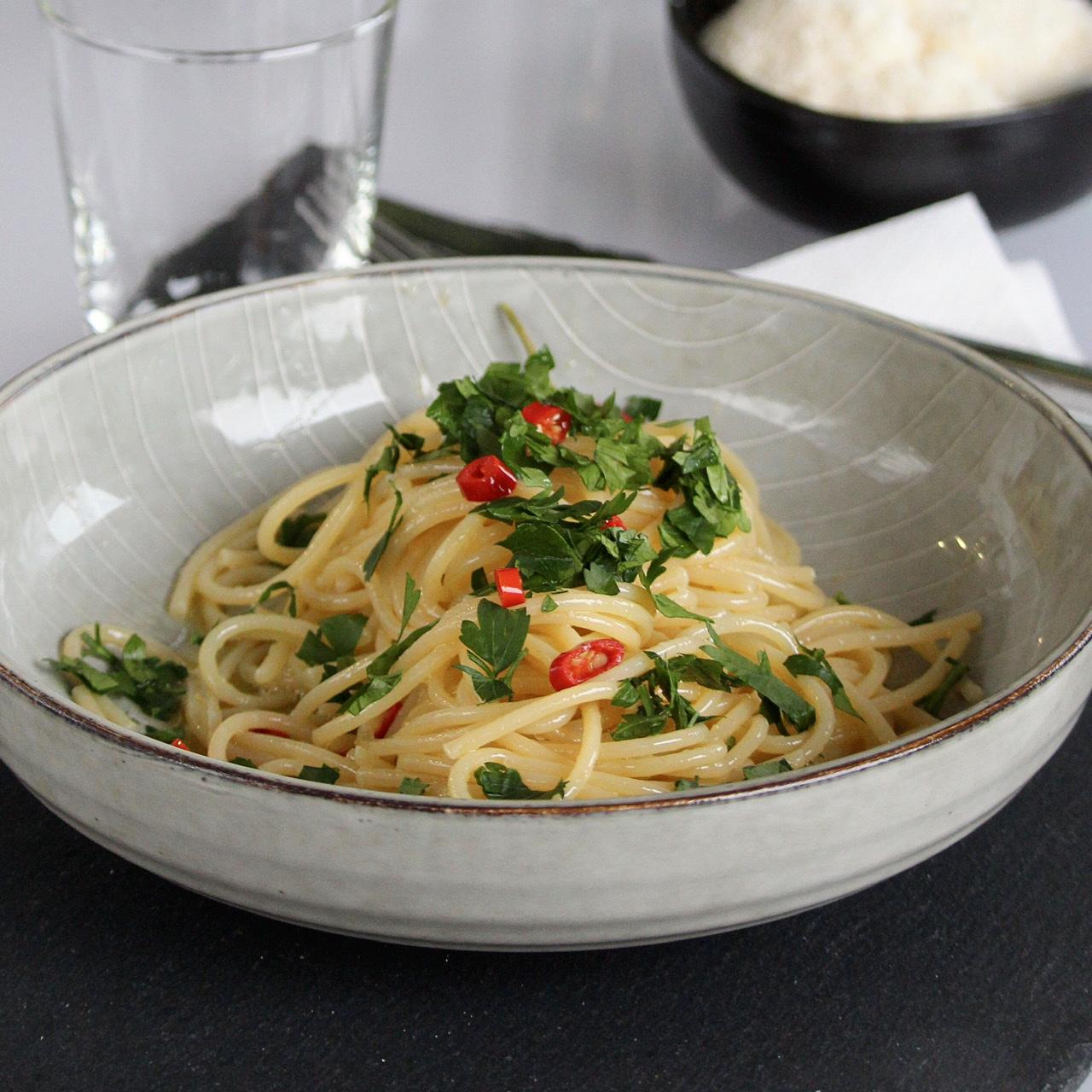 Spaghetti Aglio, Olio, e Peperoncini