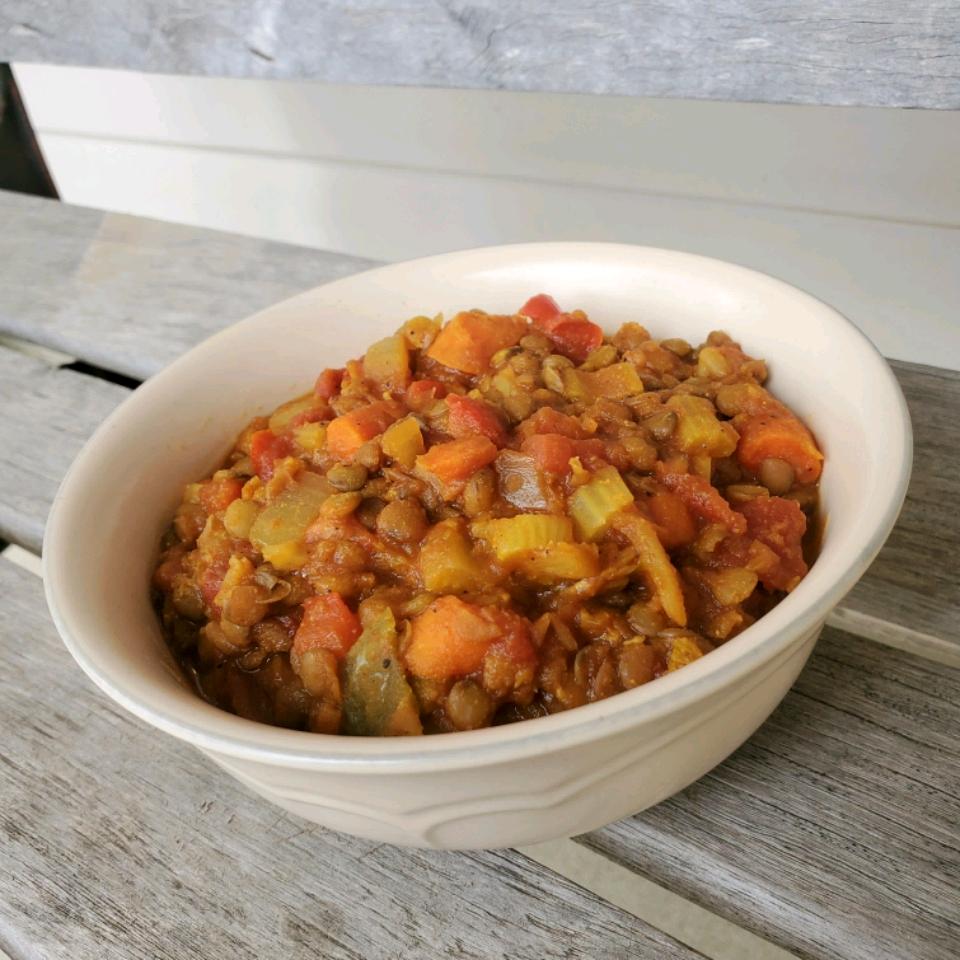 Hearty Vegetarian Lentil Stew