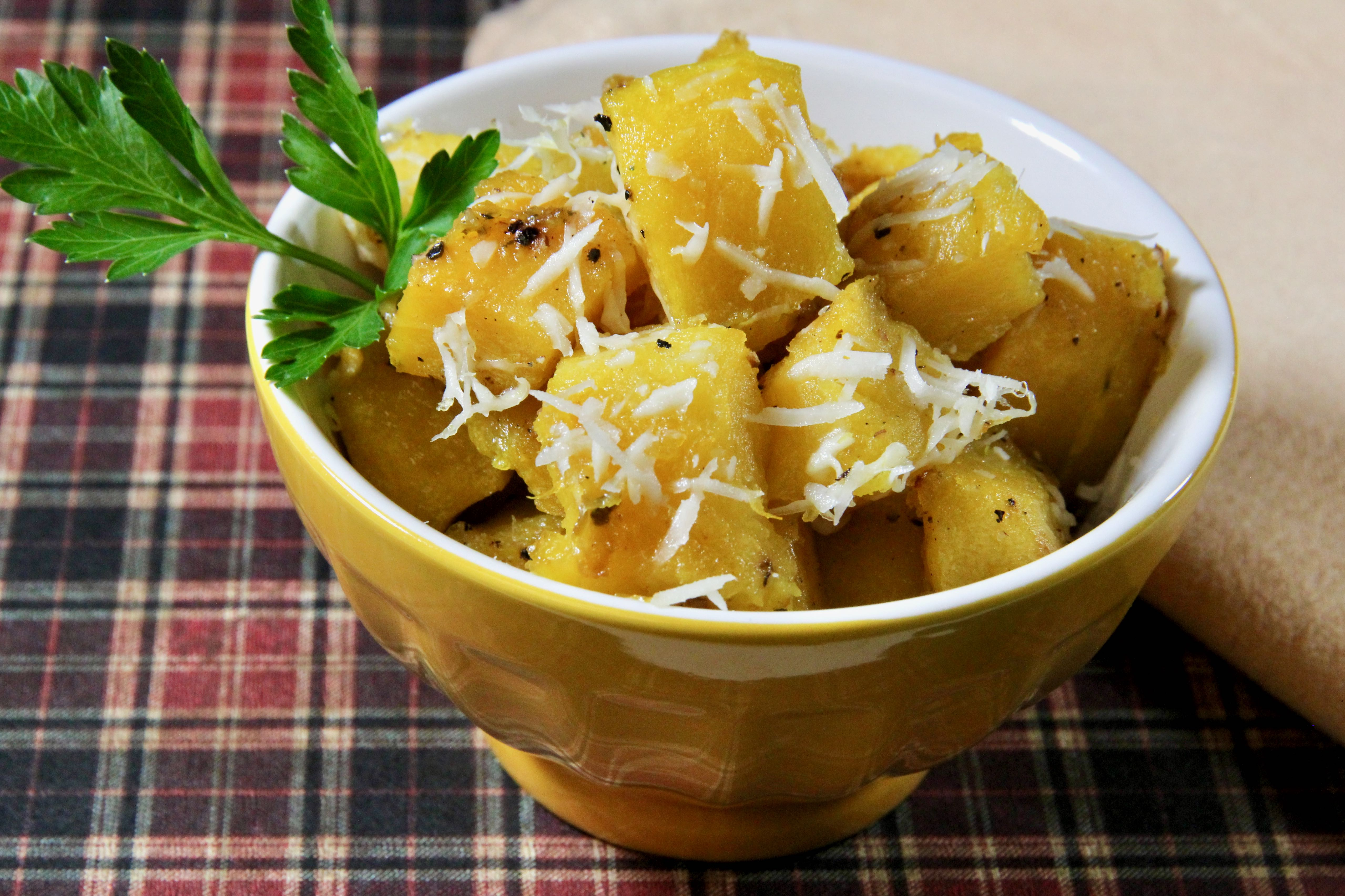 Roasted Acorn Squash with Parmesan