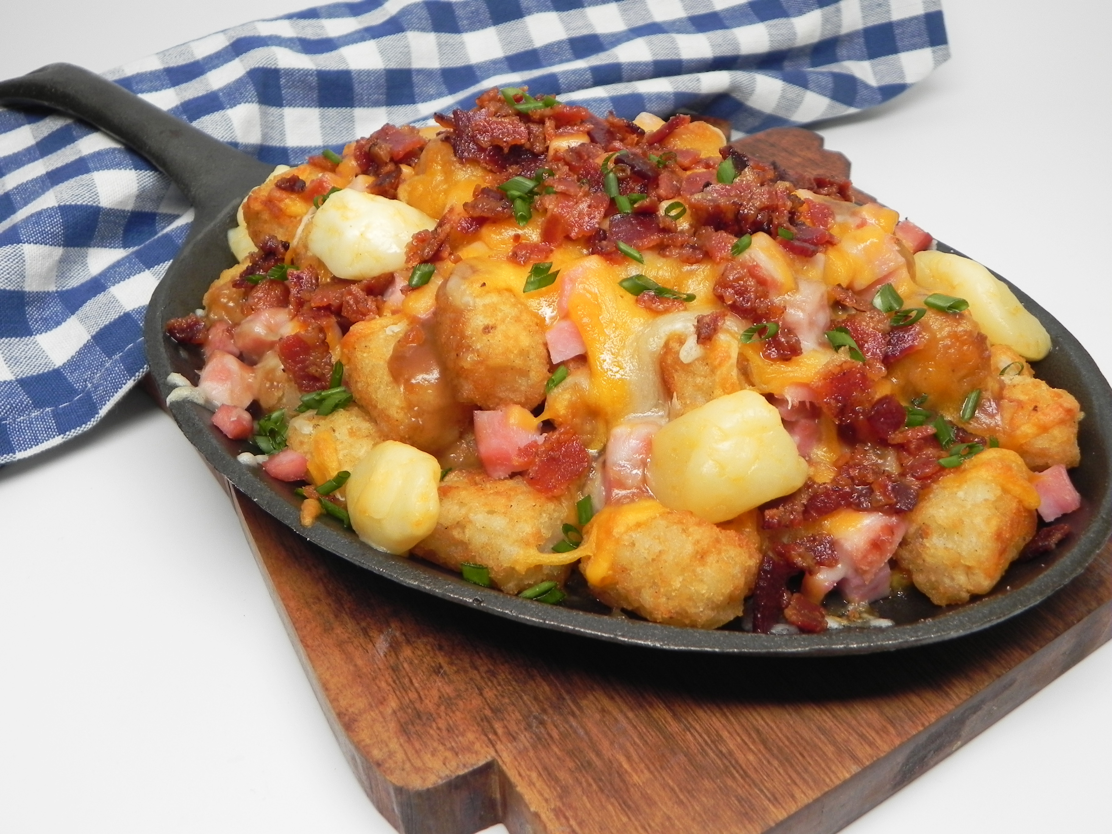 Cheesy Bacon, Ham, and Swiss Tater Tots® Poutine