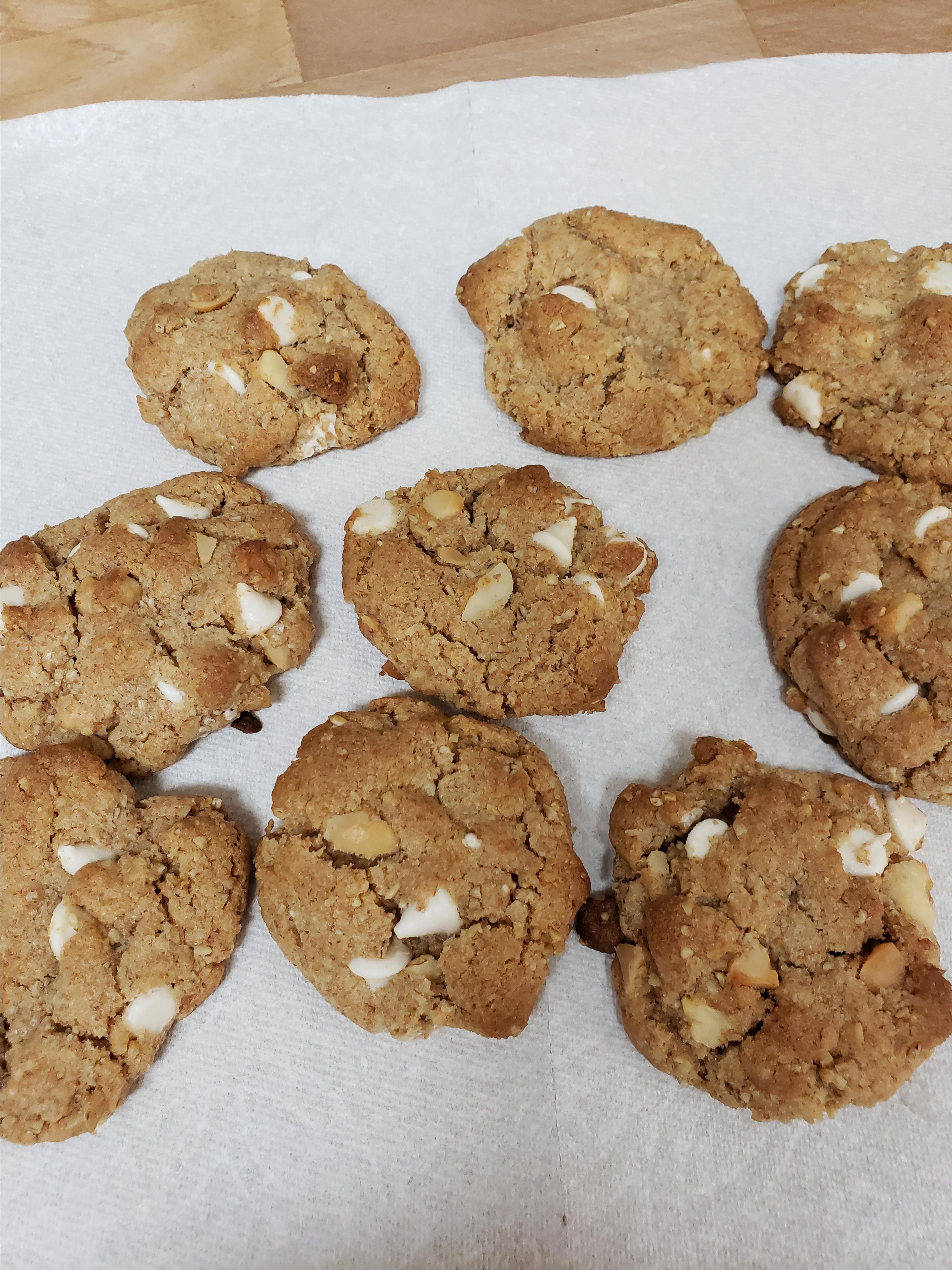 White Chocolate and Macadamia Nut Cookies Jo Nichols