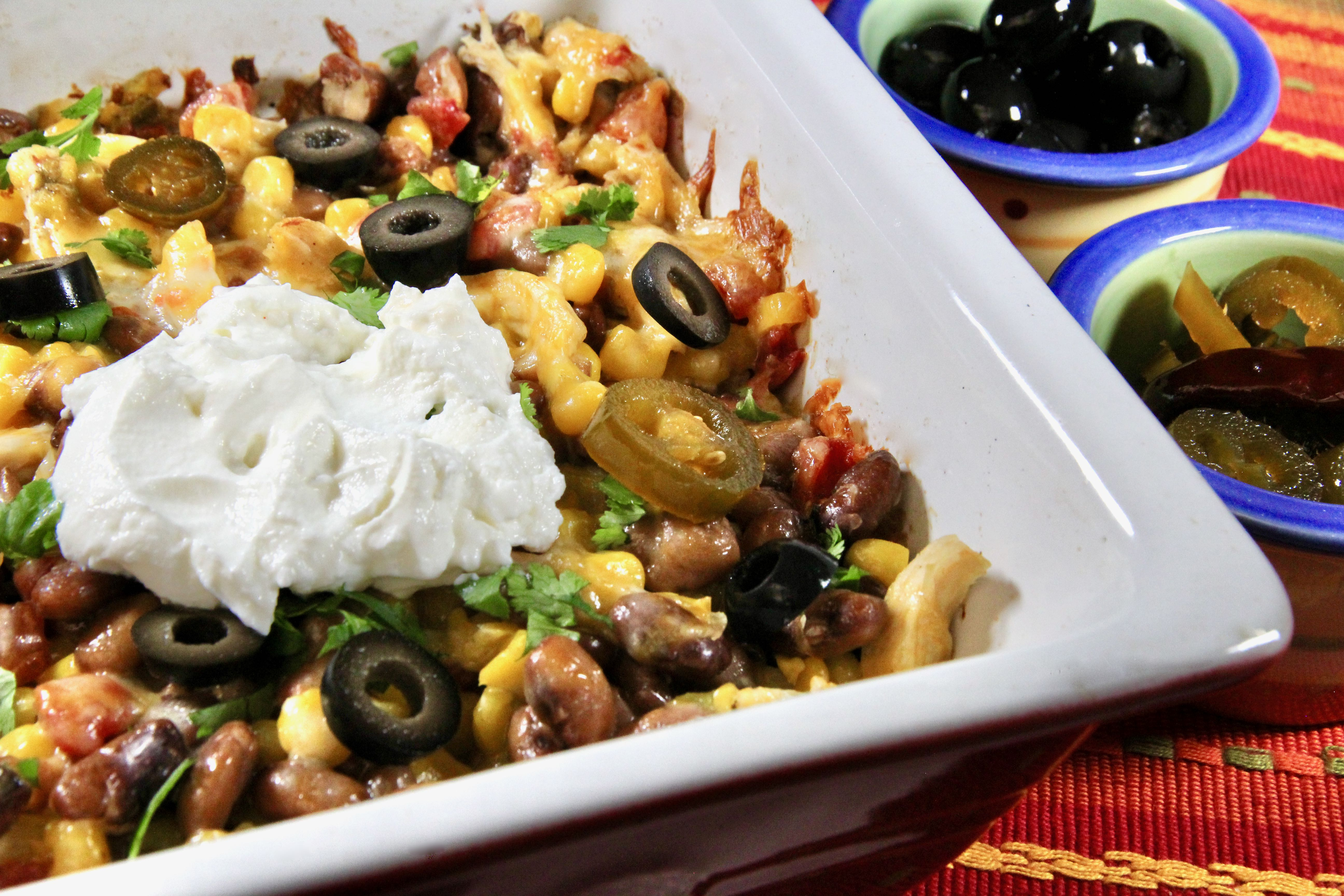 Pinto Bean and Chicken Casserole