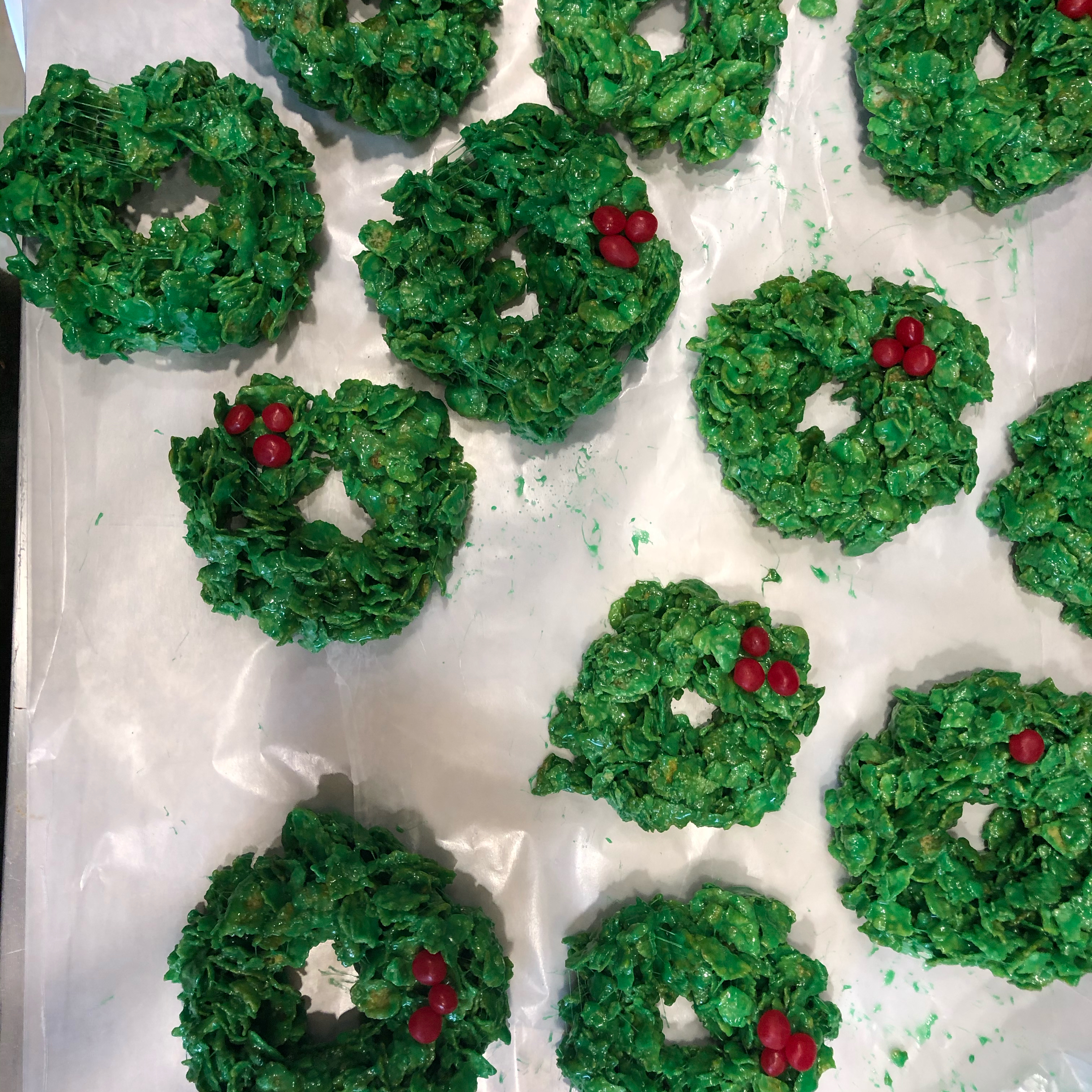 Frosted Christmas Wreath Cookies Jamie Comarsh
