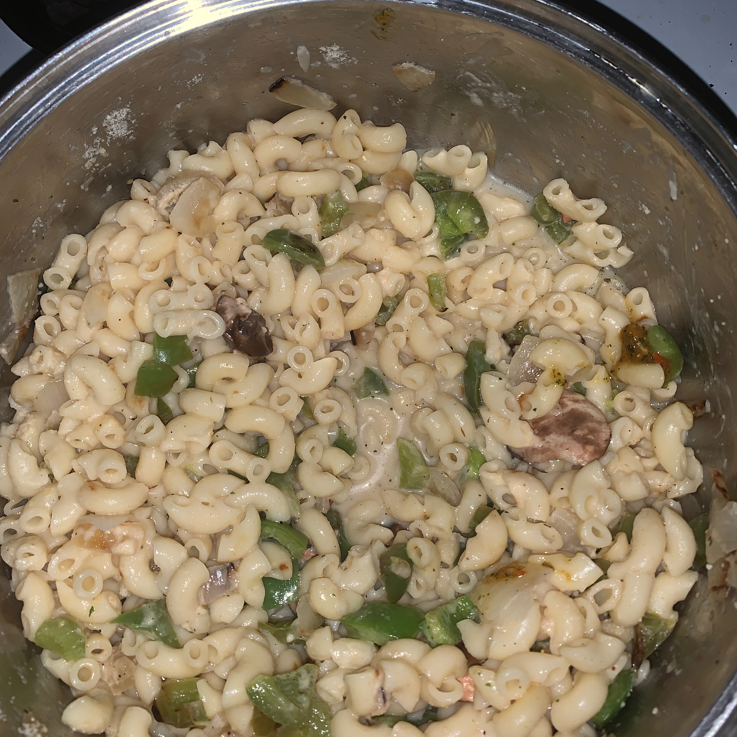 Macaroni and Peppers in White Sauce Kristina Hall