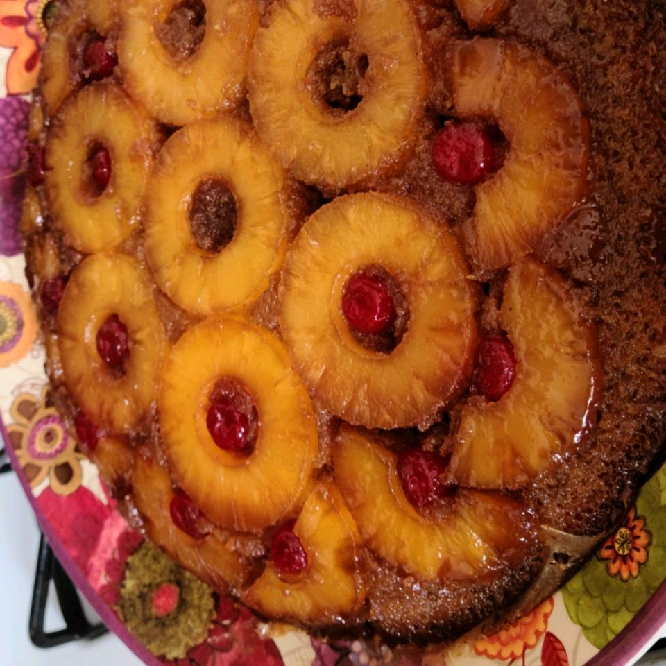 Grandma's Skillet Pineapple Upside-Down Cake Cynthia Berberich-Nebrigich