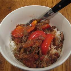 Slow-Cooker Pepper Steak HOLLISKAT