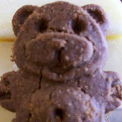 Chocolate Teddy Bear Cookies