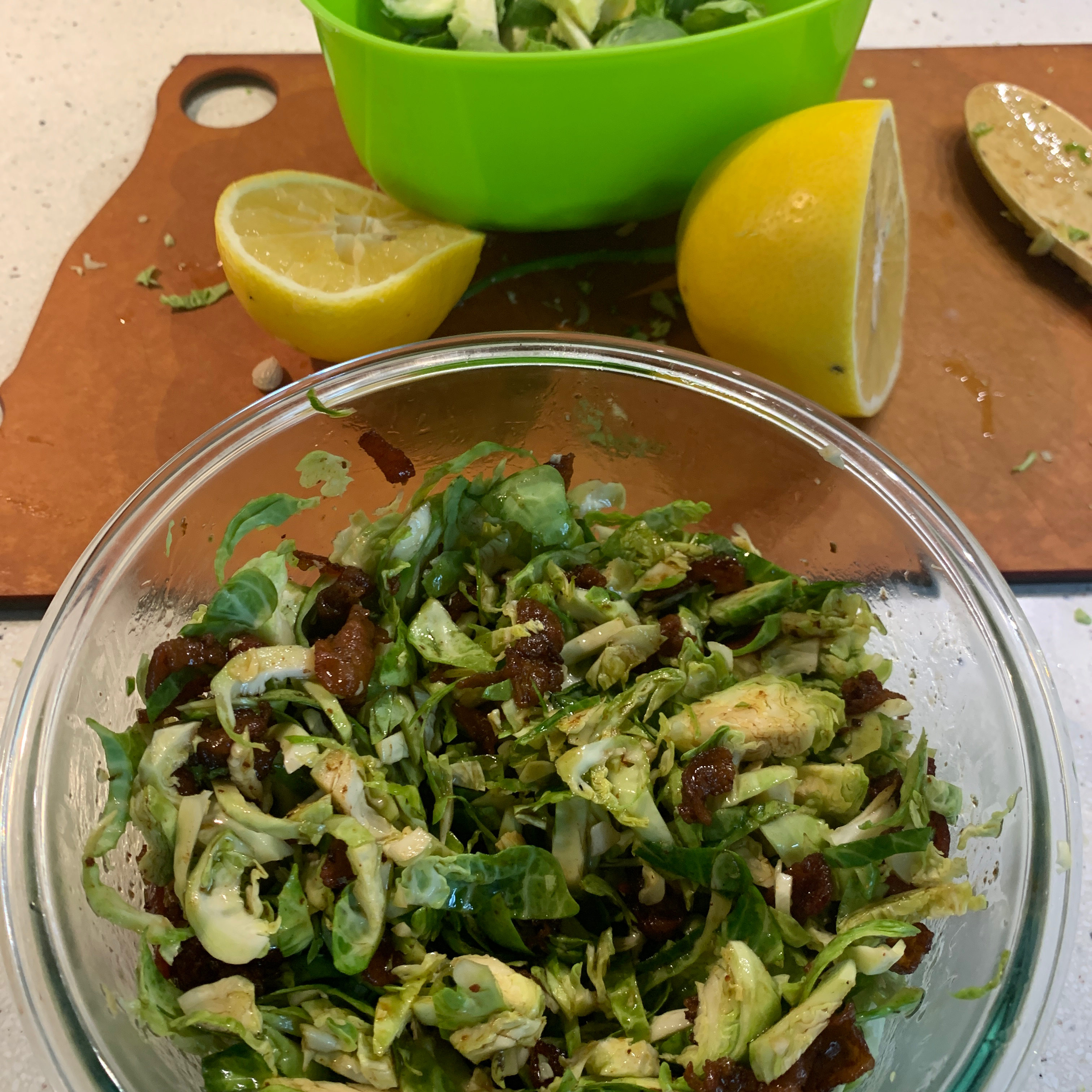 Brussels Sprouts with Bacon Dressing GG13