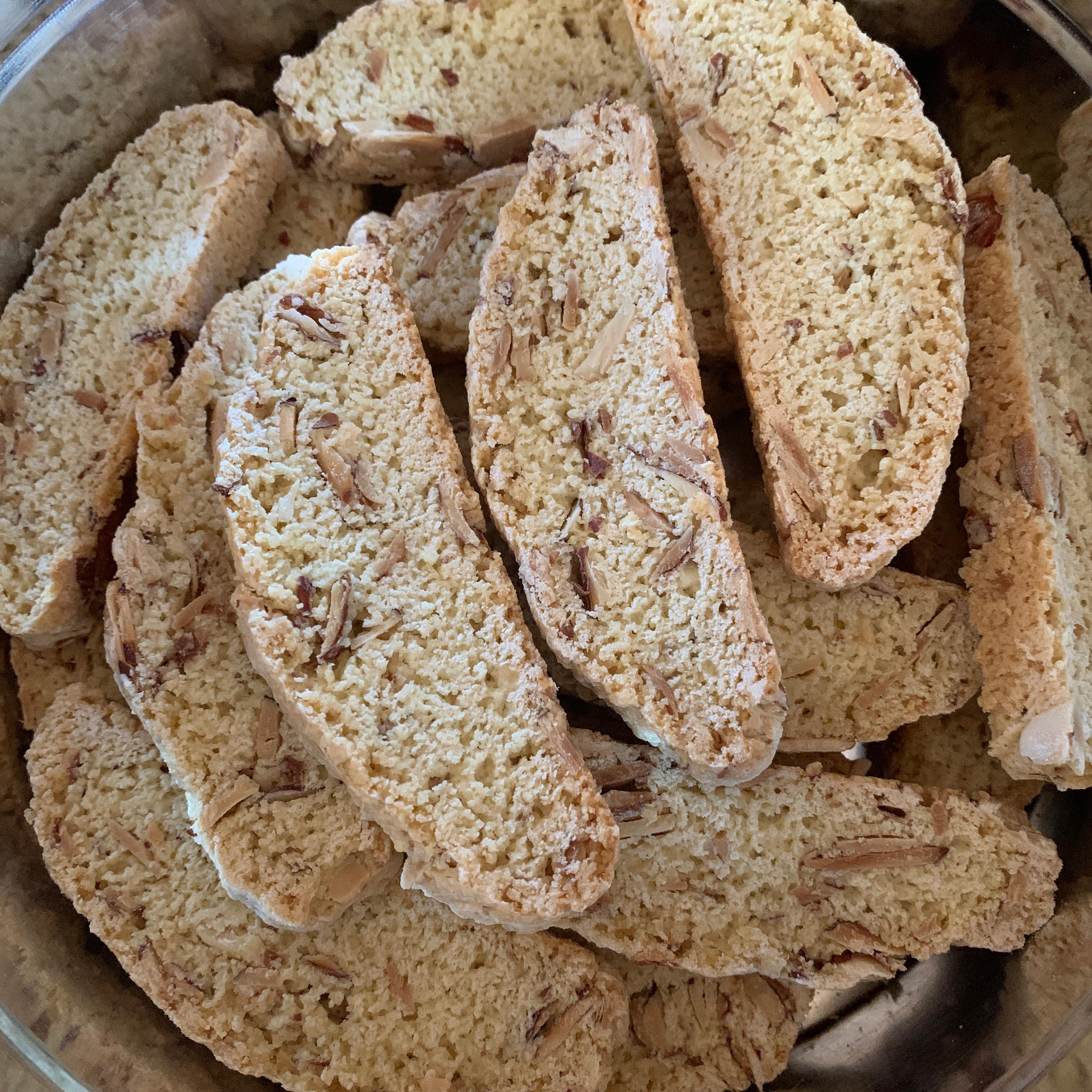 Crunchy Almond Biscotti connie