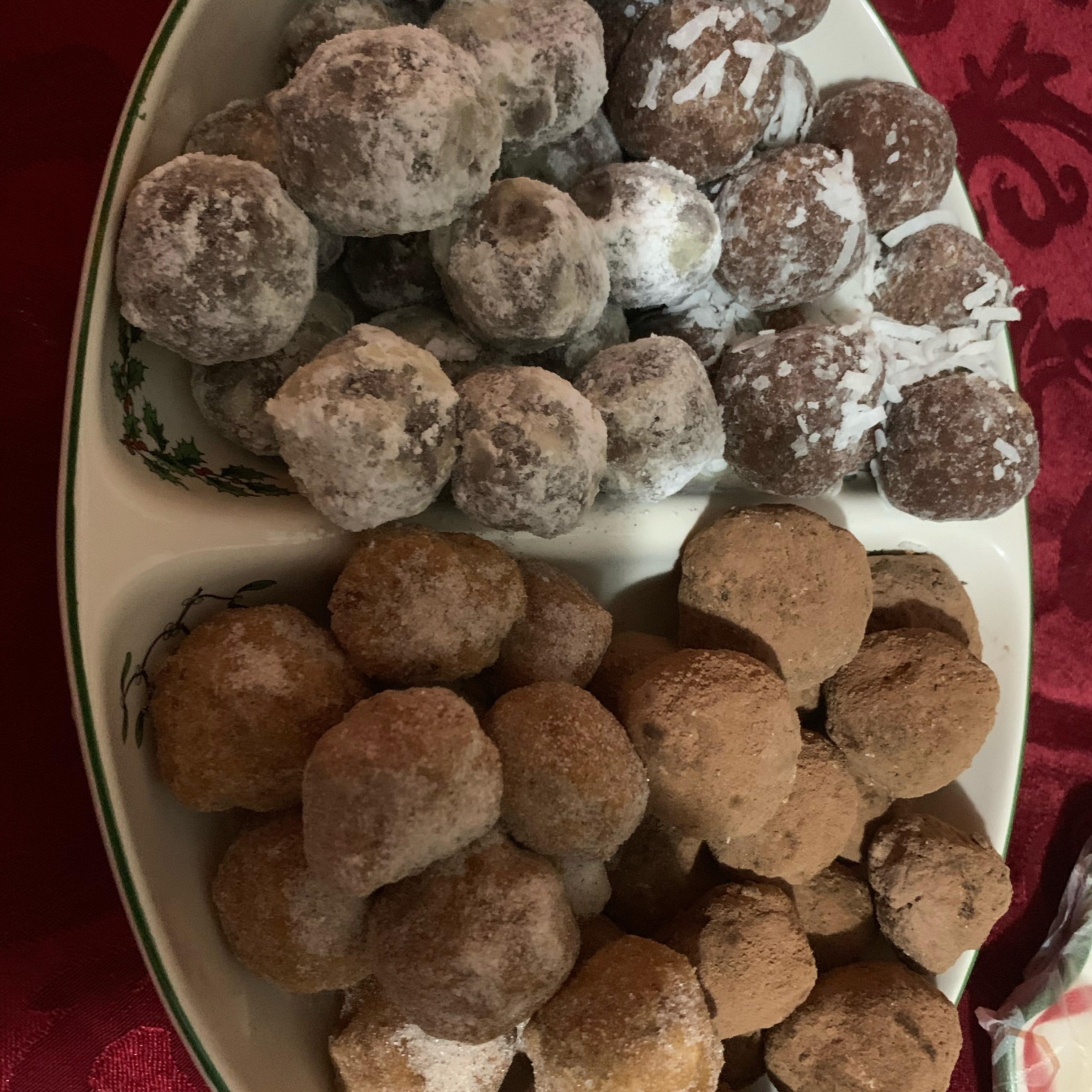 Chocolate Walnut Rum Balls Dominique Railey