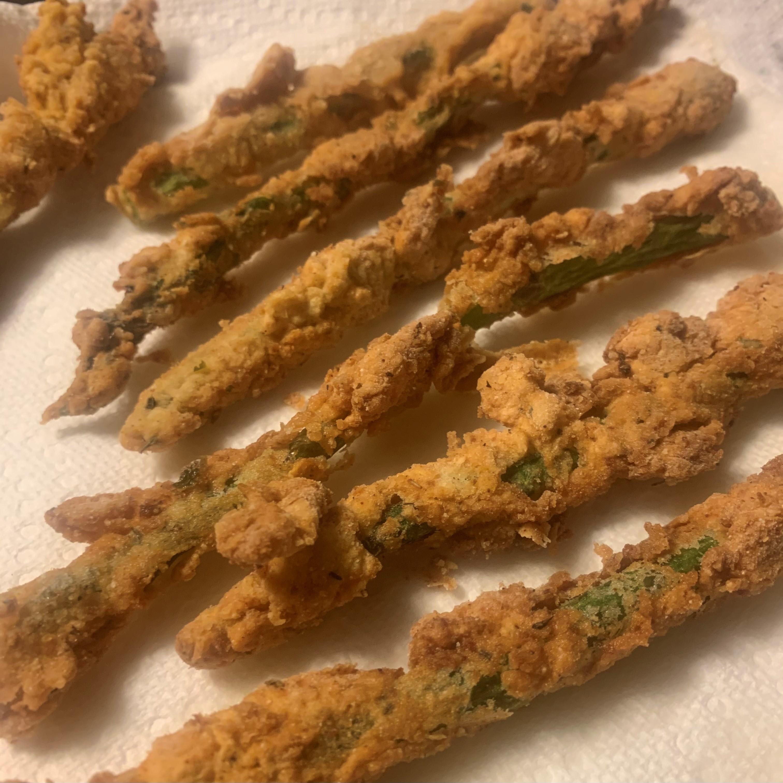 Deep-Fried Parmesan-Asparagus Fries