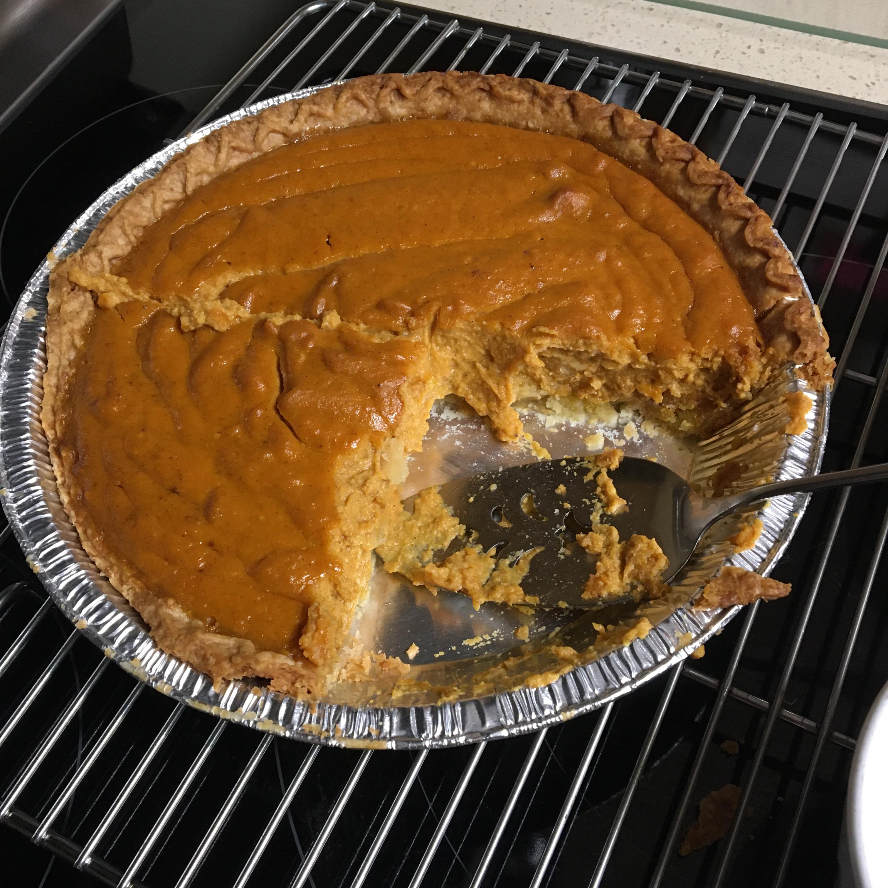 Creamy Pumpkin Pie with Ricotta Cheese kpziegler