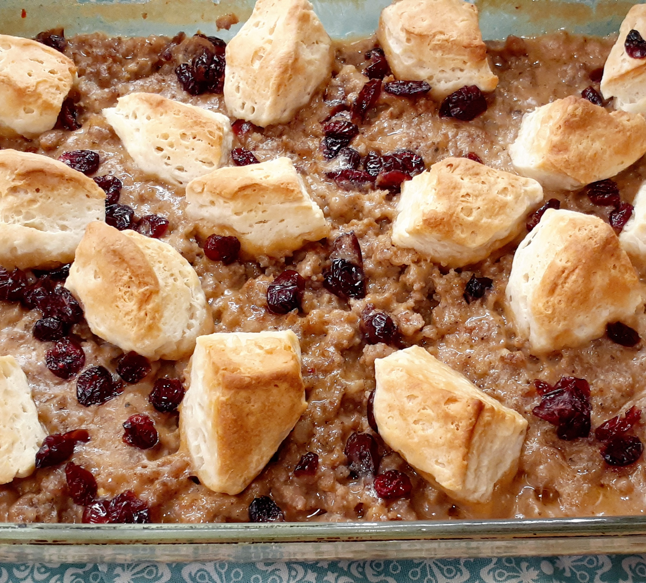 Sausage, Cranberry, and Biscuit Breakfast Bake Diana Mc