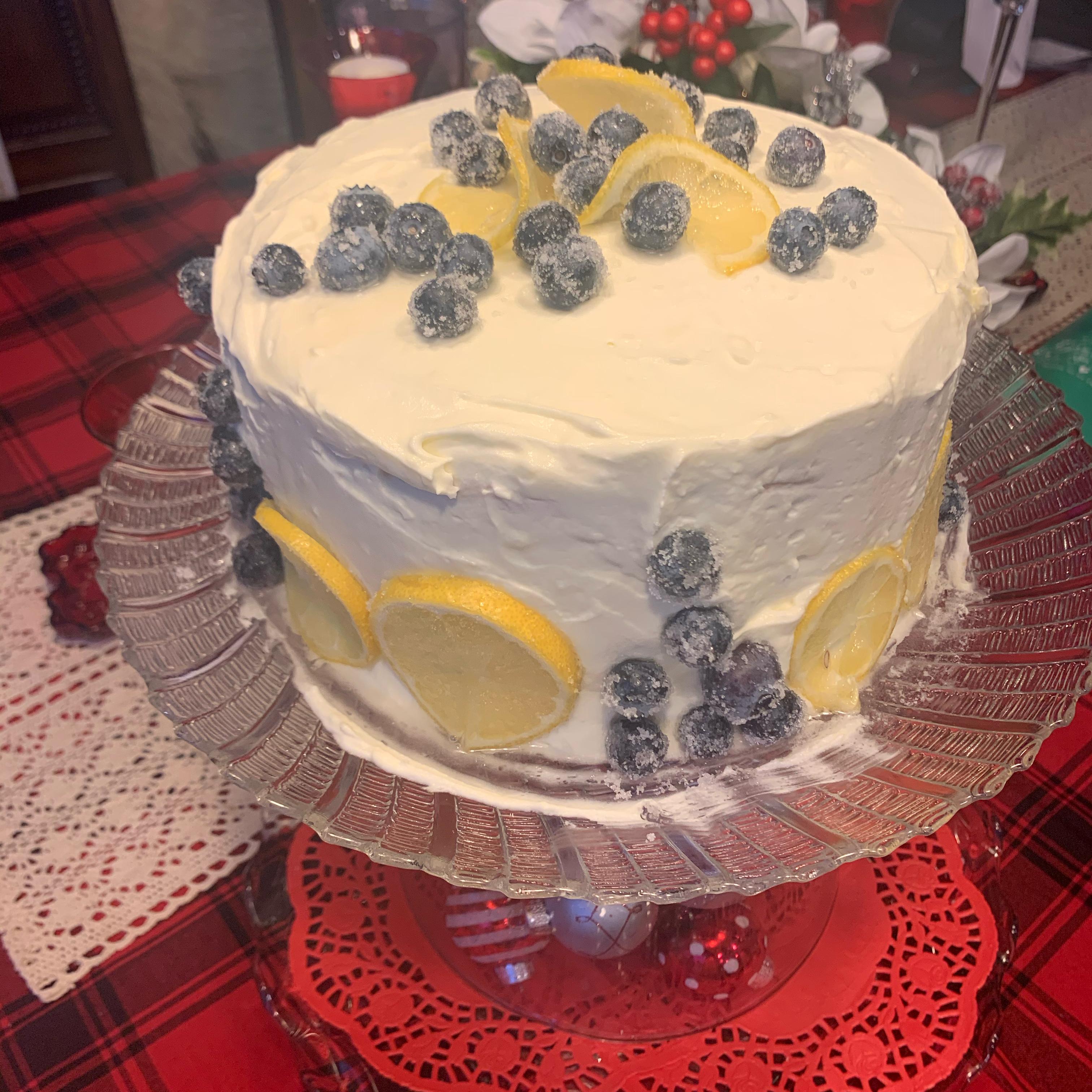 Lemon Blueberry Cake Mz Pacman