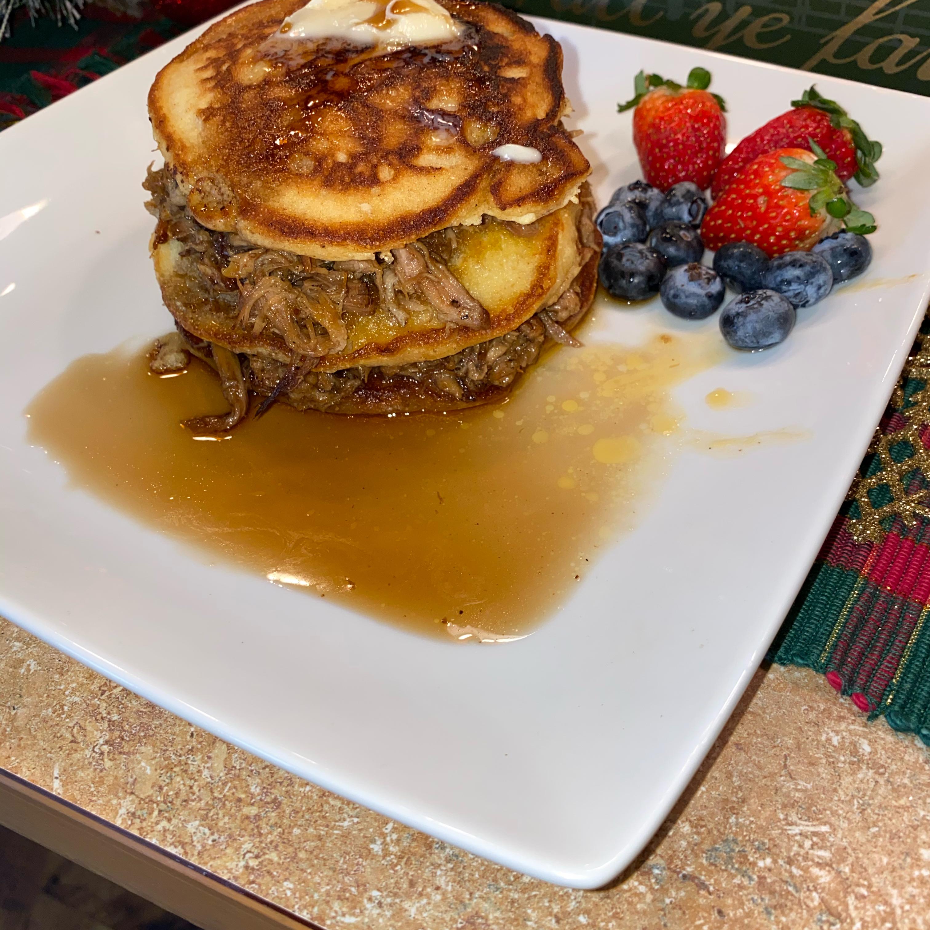 Pulled Pork Pancakes