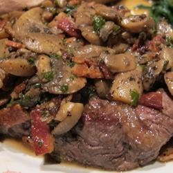 Filet Mignon with Mushrooms