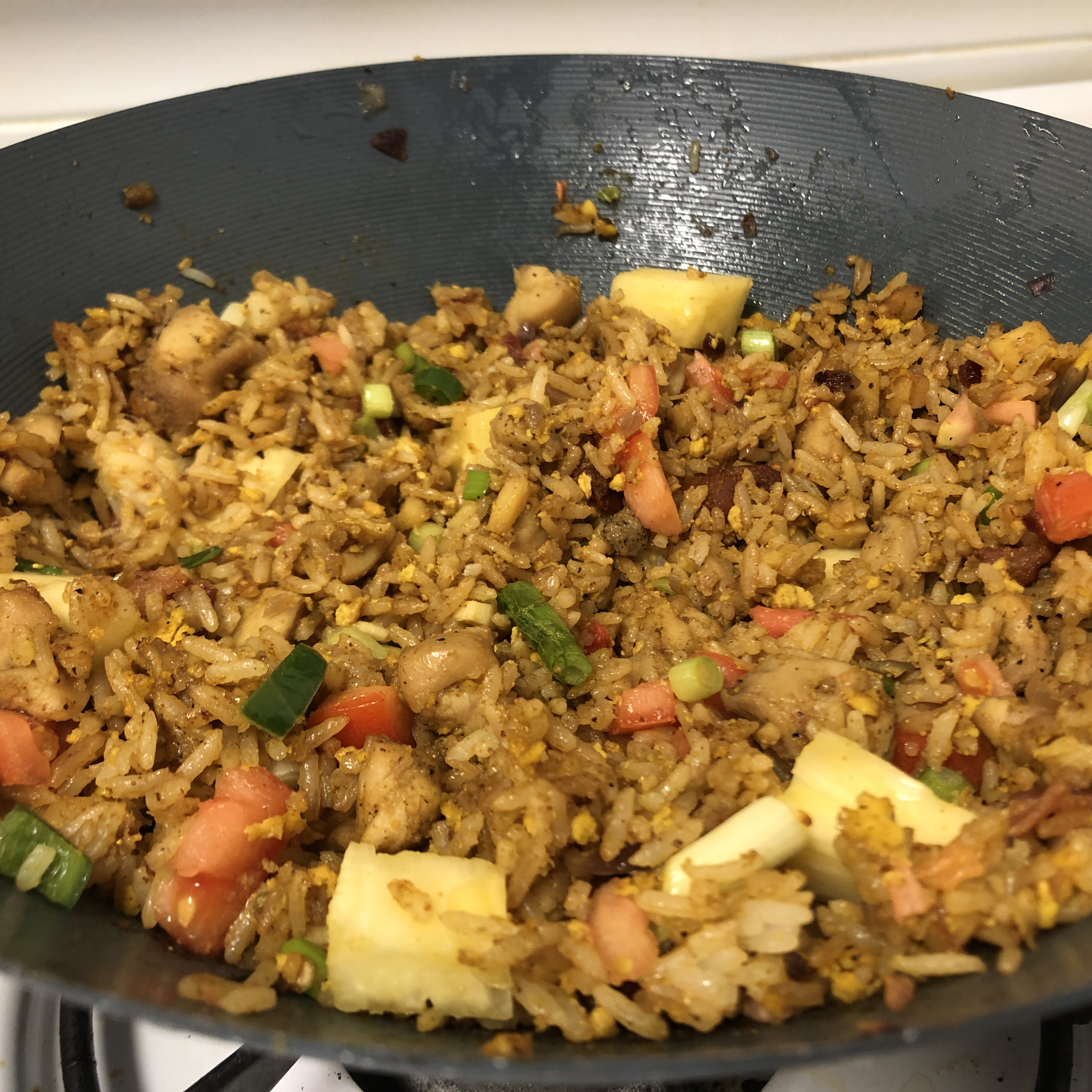 Thai Fried Rice with Pineapple and Chicken Nick