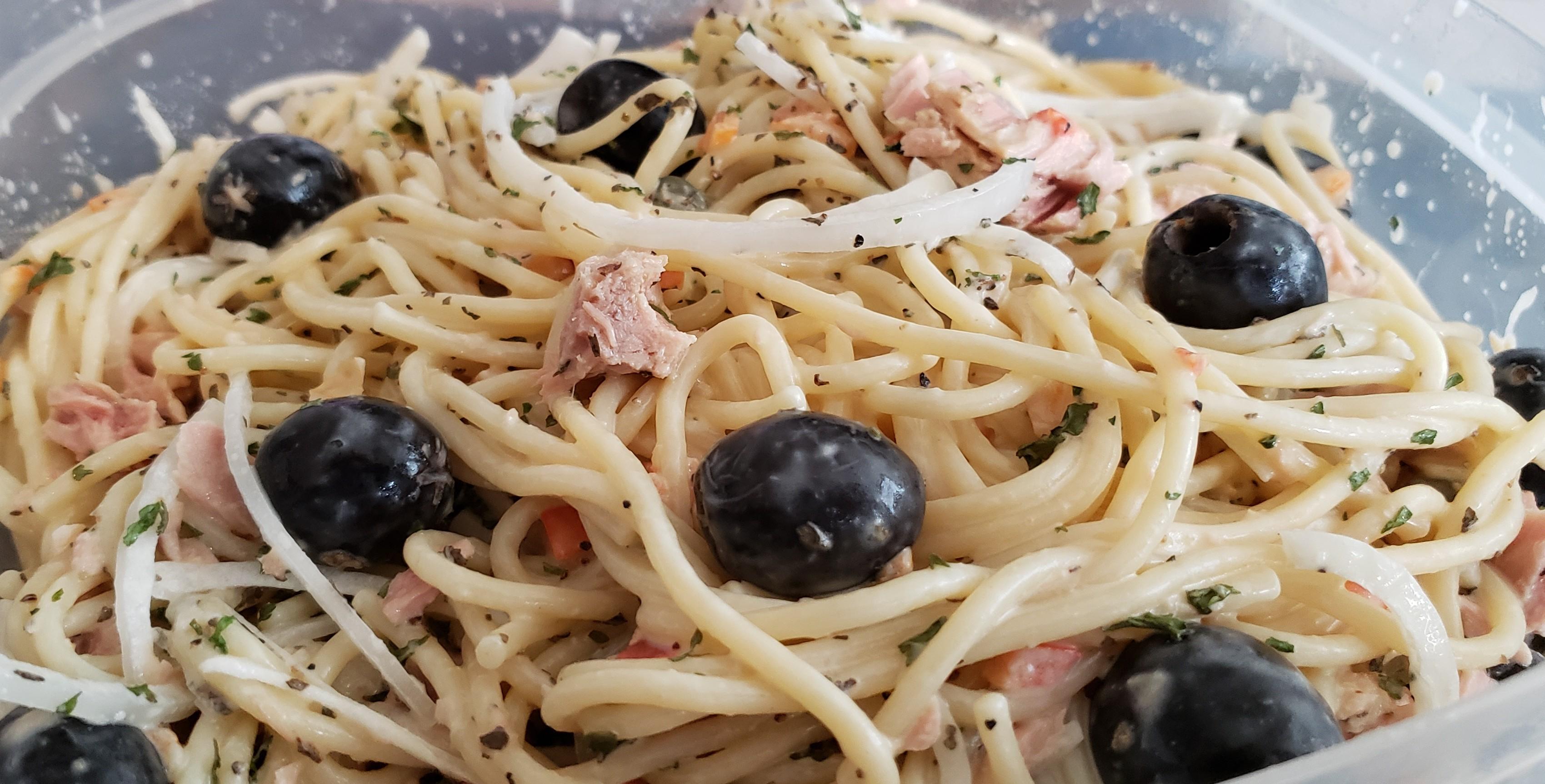 Tuna Piccata Pasta Salad Jim Wellborn