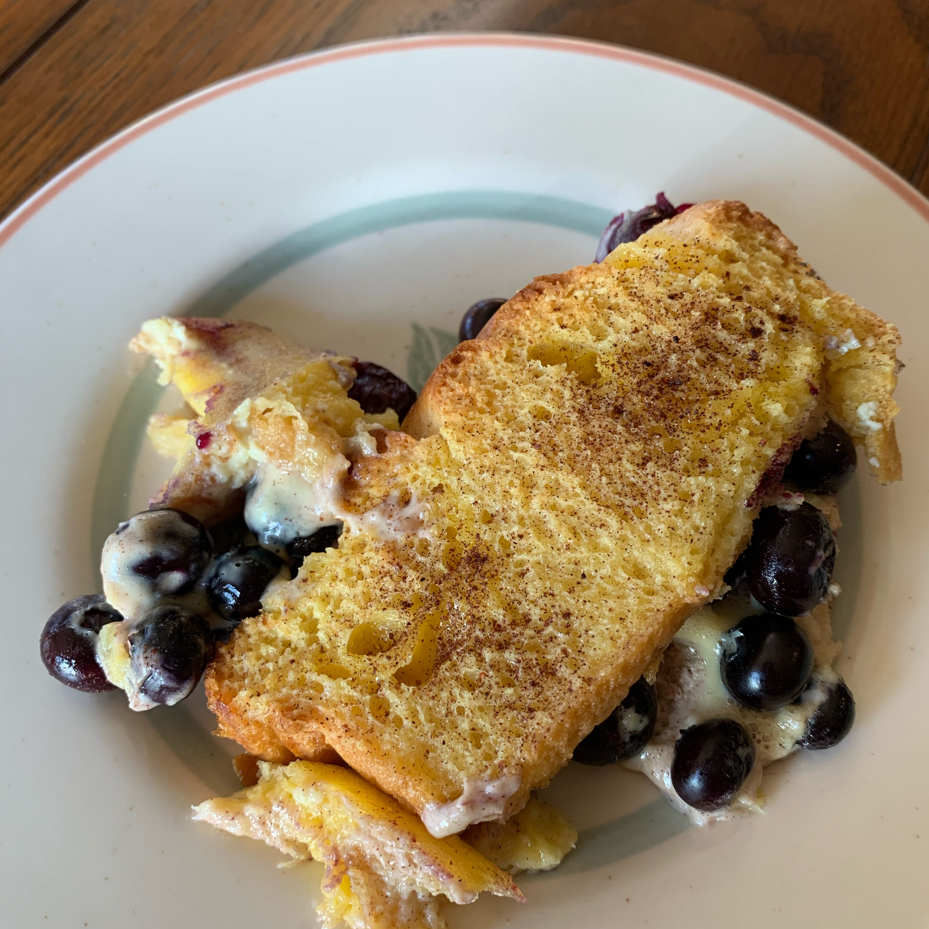 Easy Overnight Blueberry French Toast